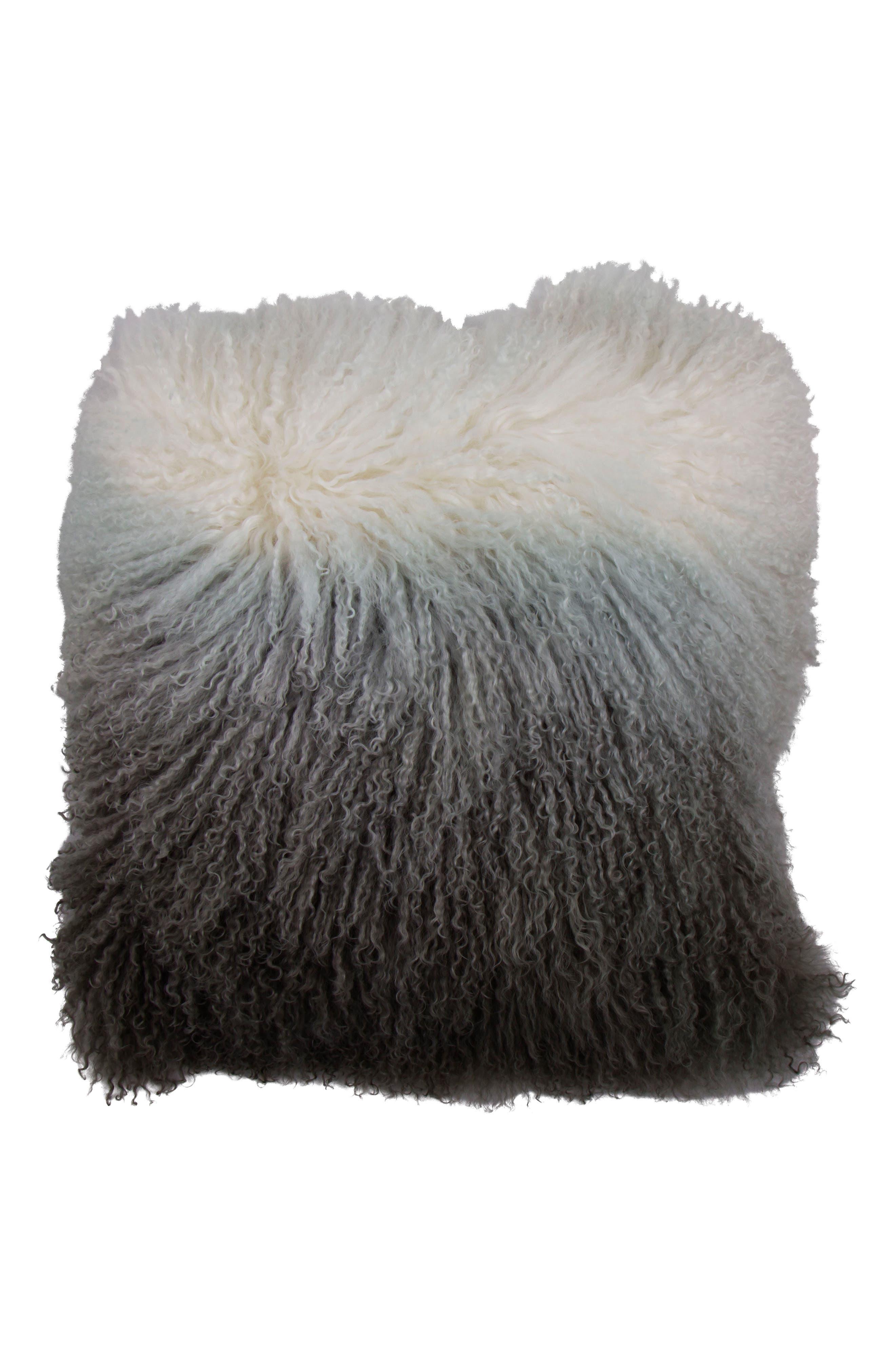 Genuine Shearling Pillow,                         Main,                         color, 020