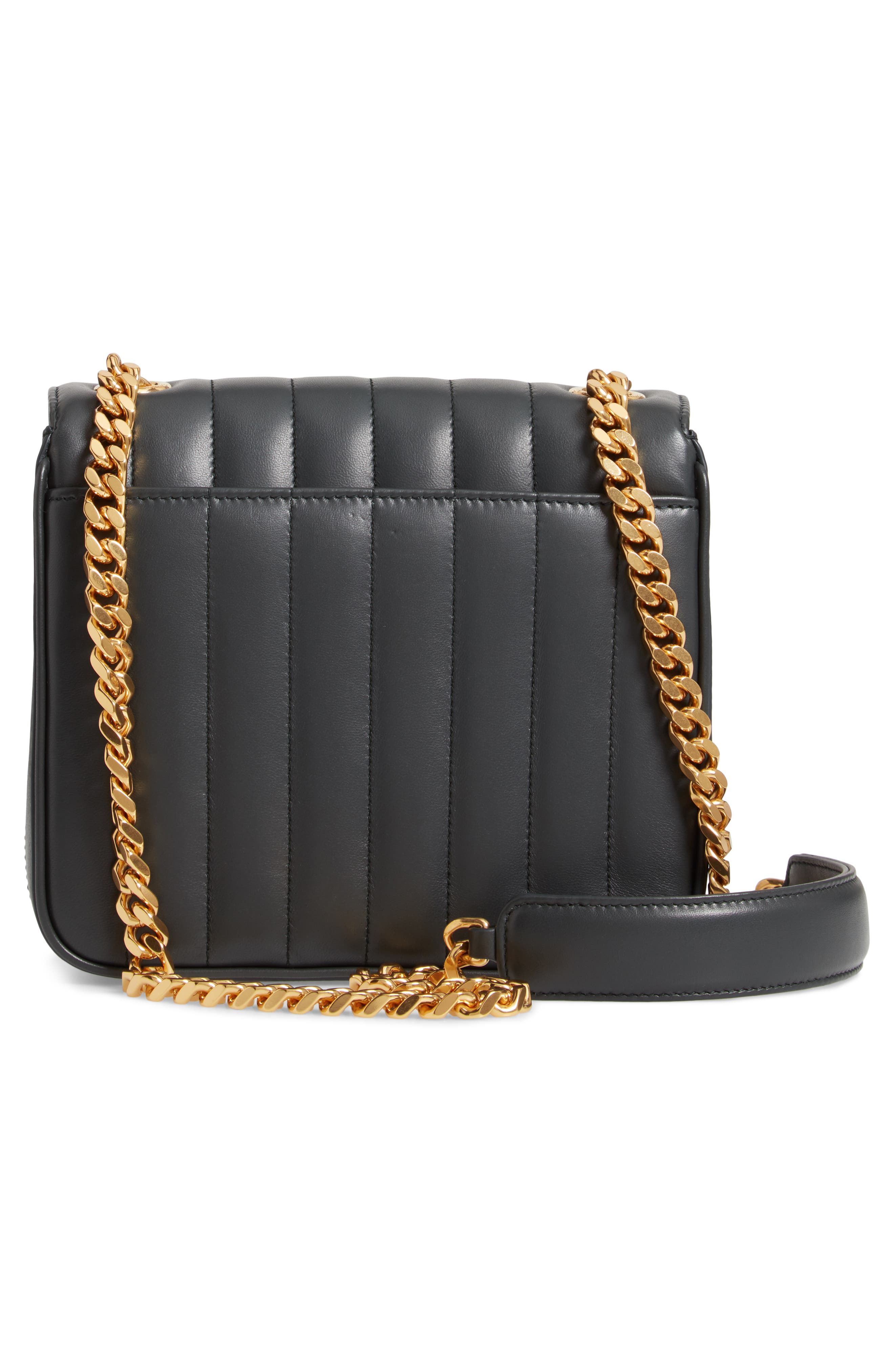 Medium Vicky Leather Crossbody Bag,                             Alternate thumbnail 3, color,                             ALGAE