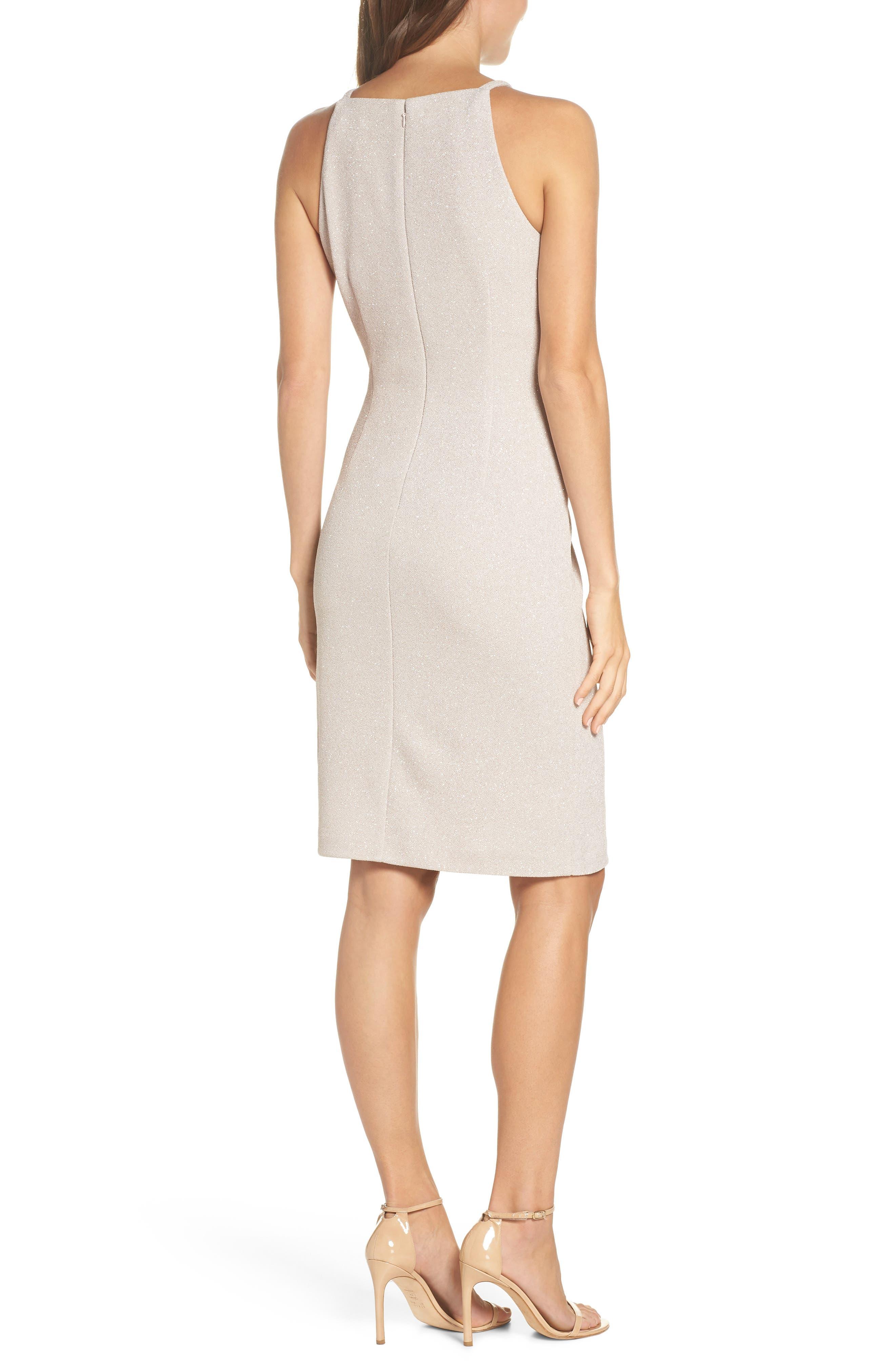 Glitter Knit Sheath Dress,                             Alternate thumbnail 2, color,