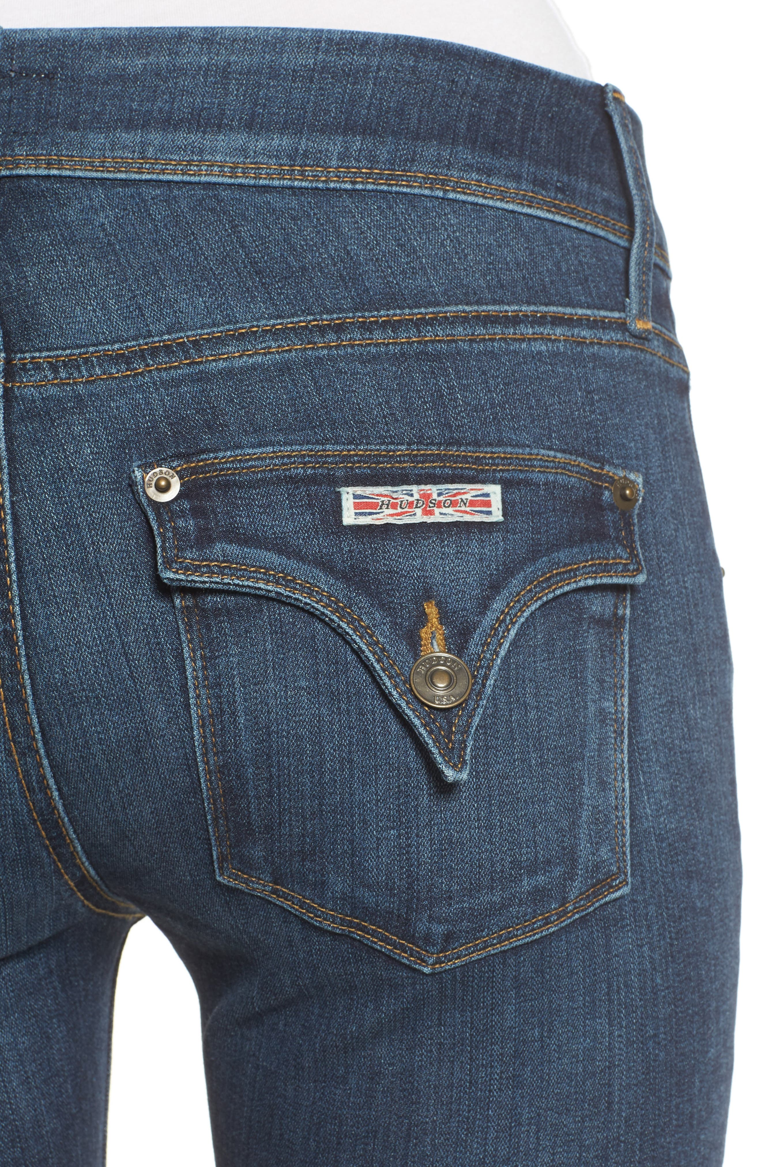 'Beth' Baby Bootcut Jeans,                             Alternate thumbnail 4, color,                             422