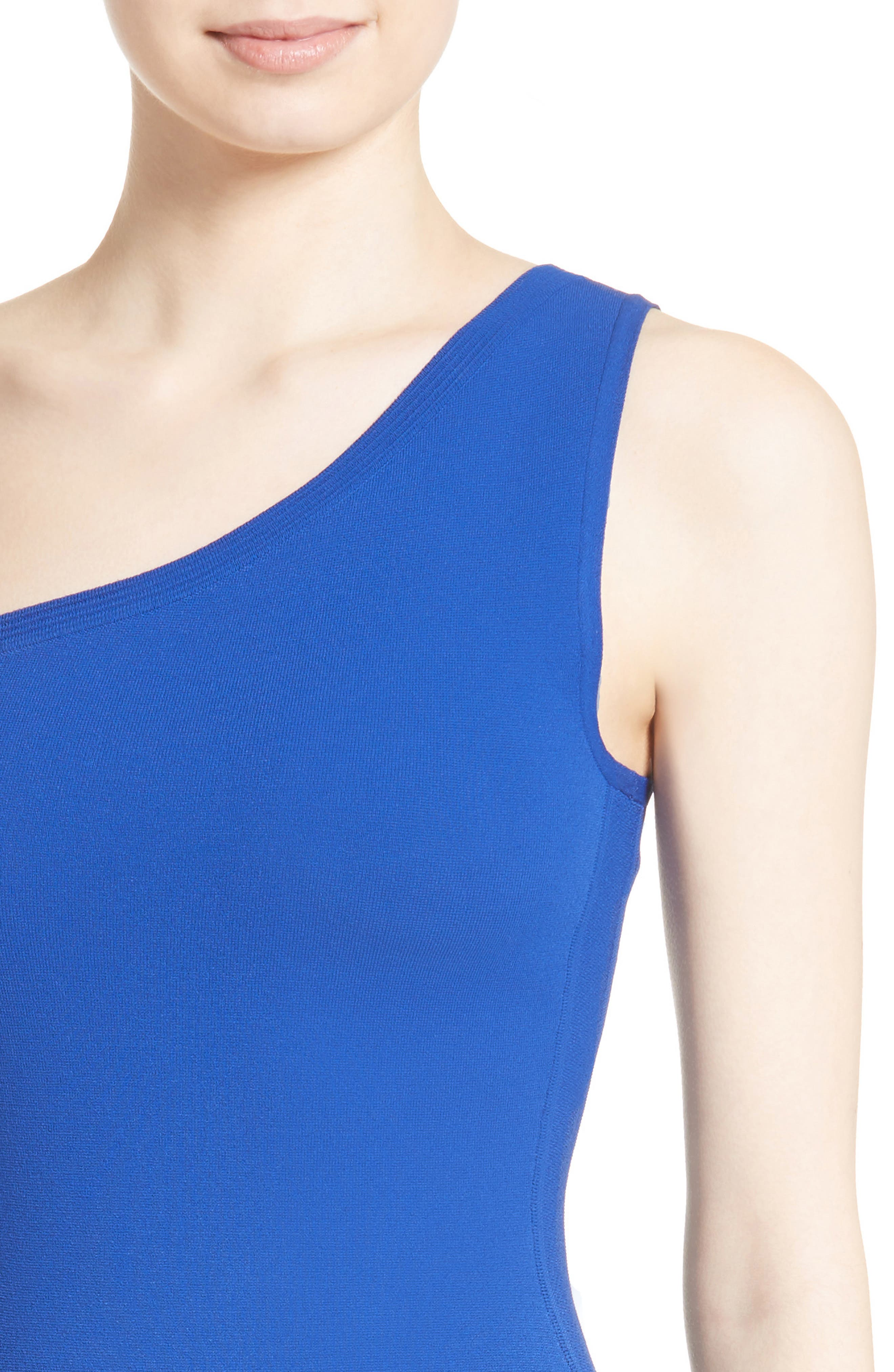 One-Shoulder Knit Dress,                             Alternate thumbnail 8, color,