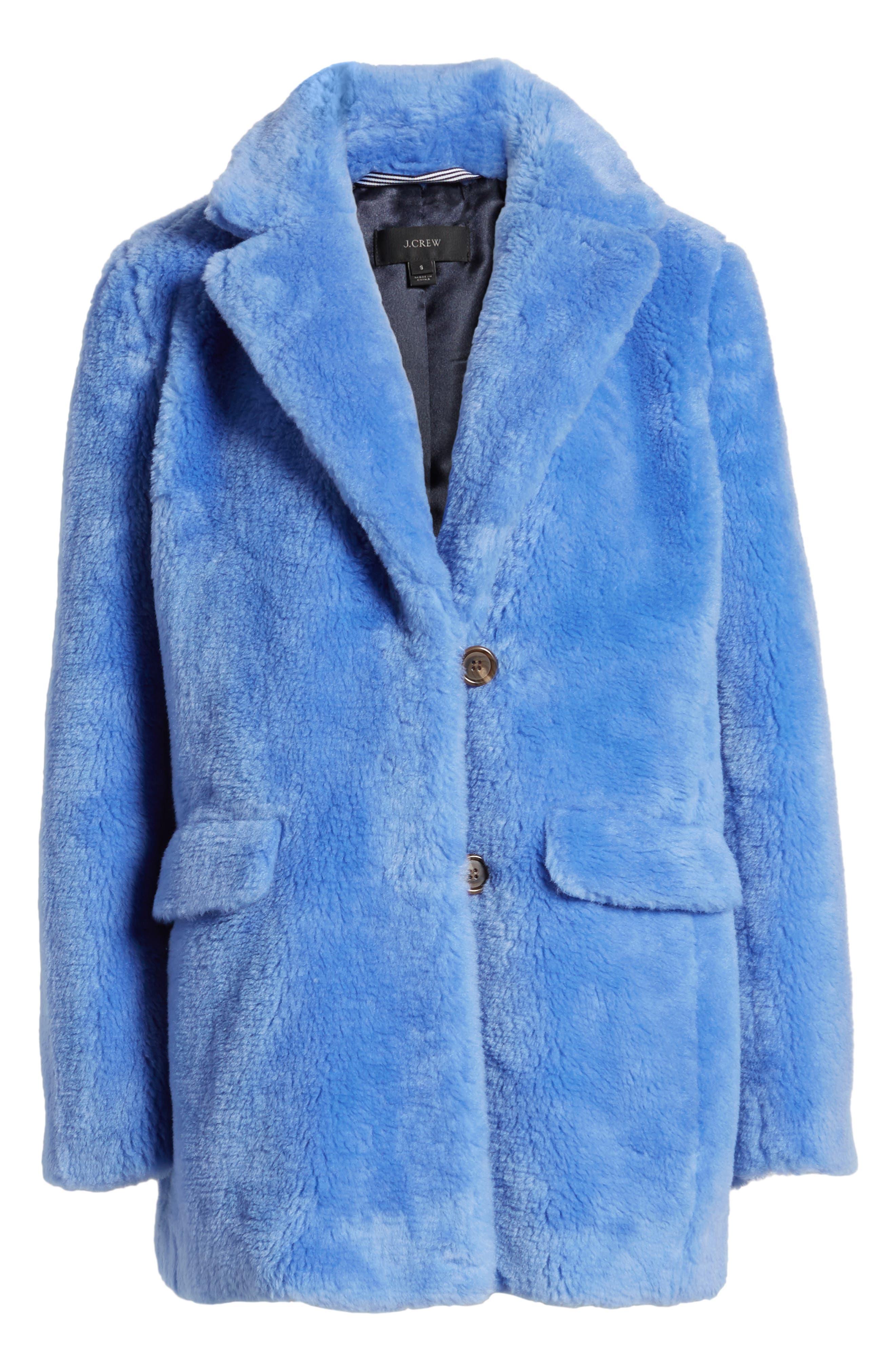 Yuna Teddy Faux Fur Jacket,                             Alternate thumbnail 9, color,