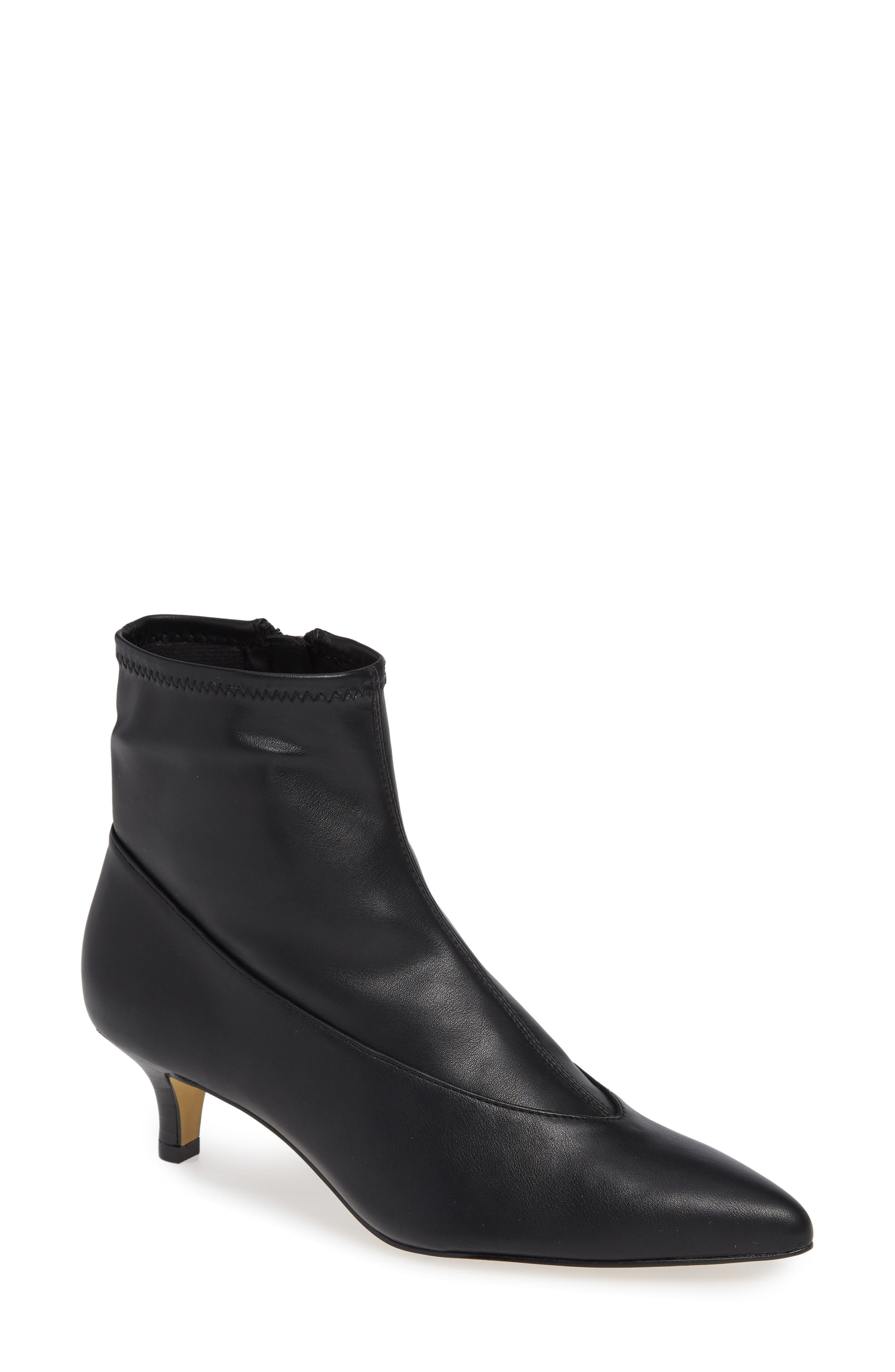 Stephanie II Stretch Bootie,                             Main thumbnail 1, color,                             BLACK