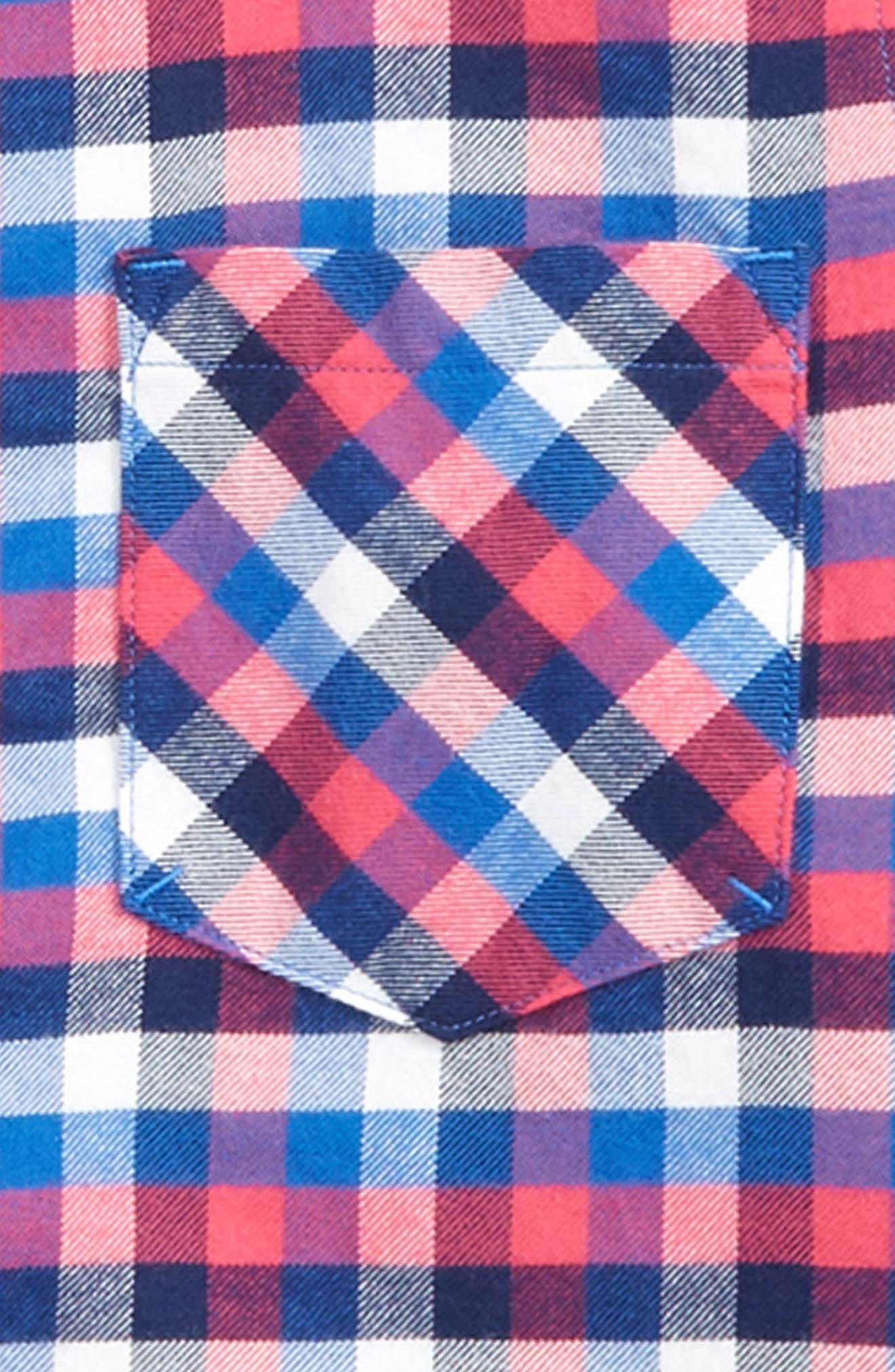 Charleston Plaid Popover Shirt,                             Alternate thumbnail 2, color,                             YACHT BLUE