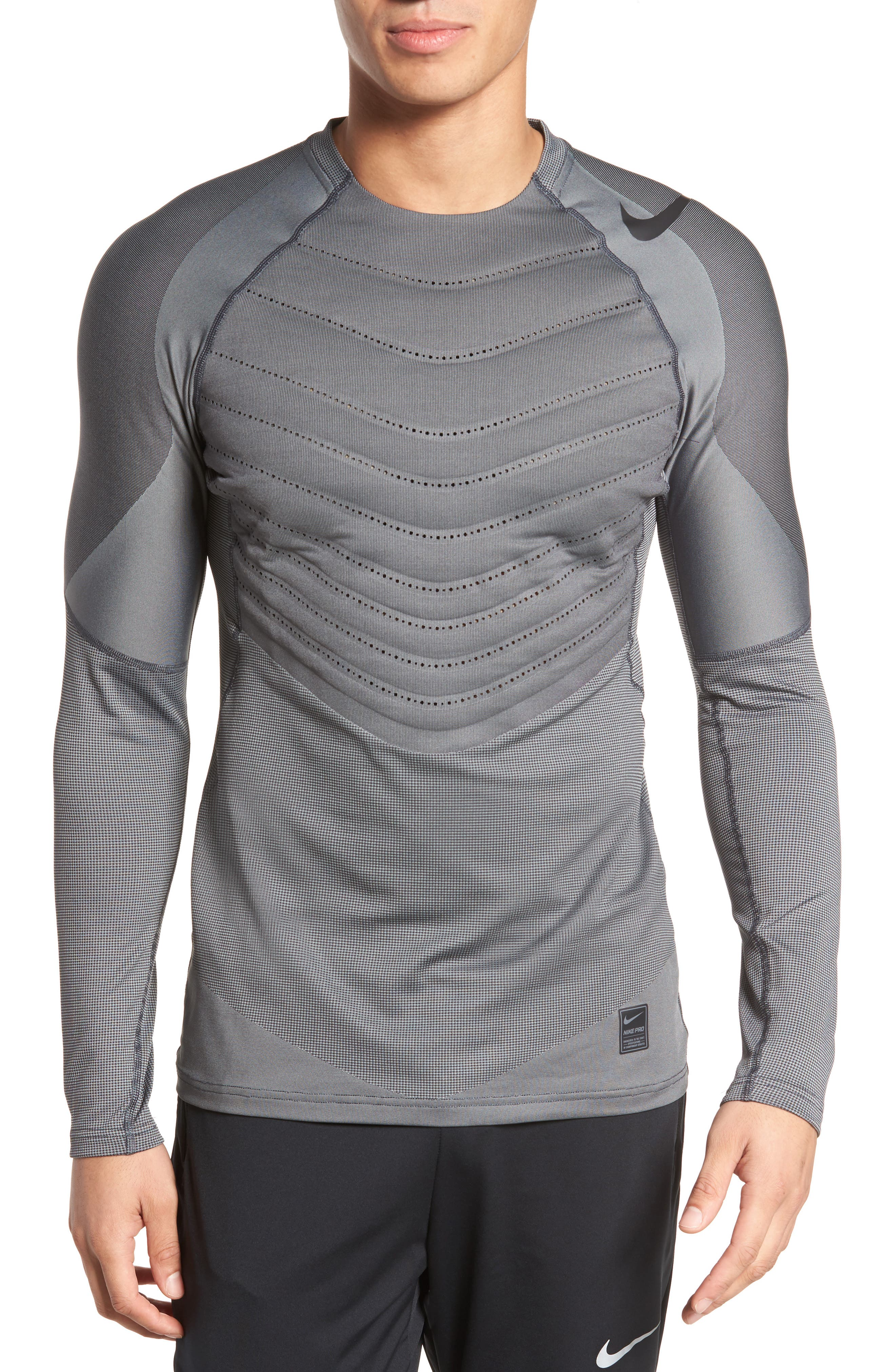 Pro AeroLoft Long Sleeve Fitted T-Shirt,                             Main thumbnail 1, color,                             010