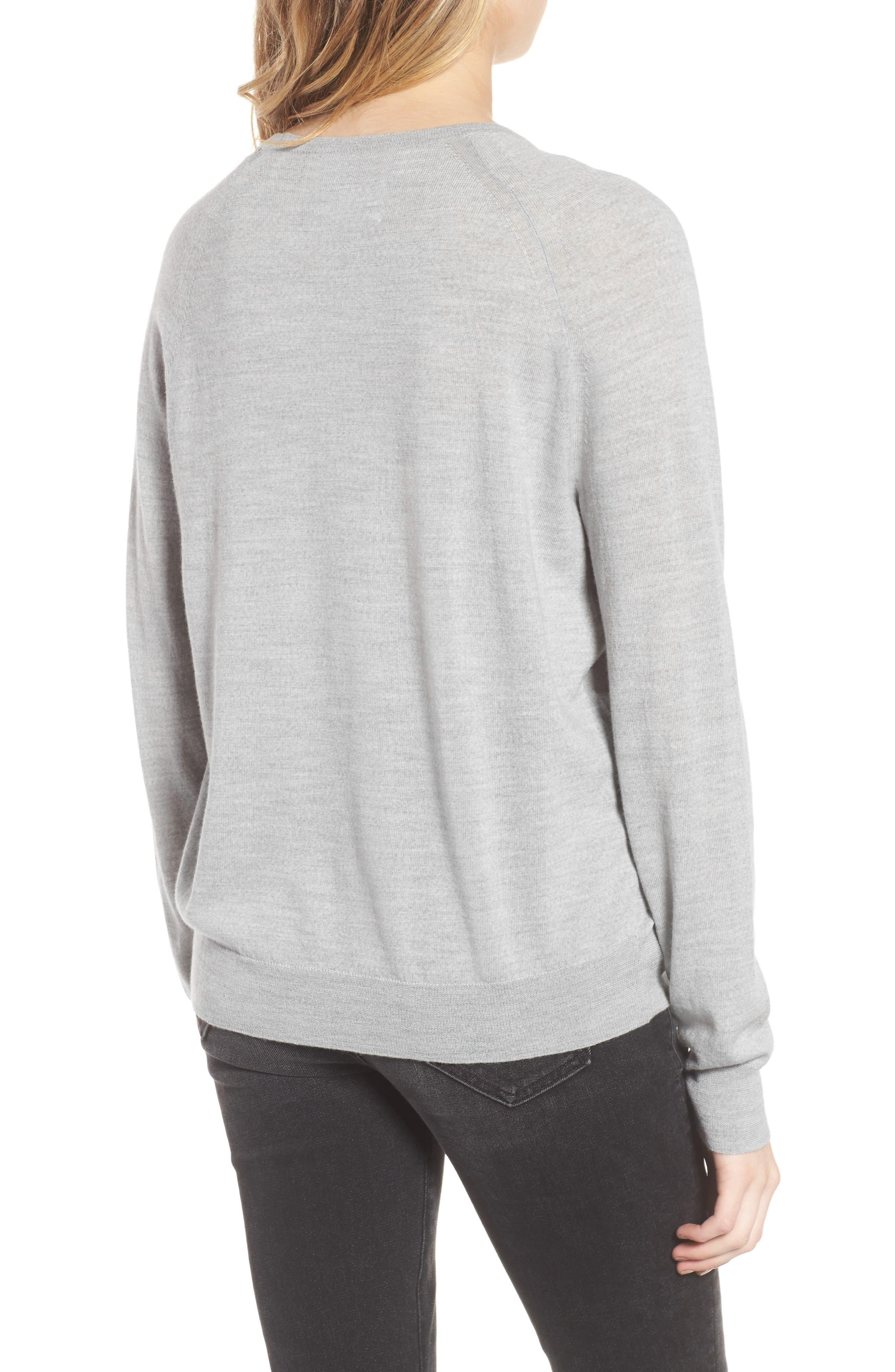 Rime Bis Merino Wool Sweater,                             Alternate thumbnail 2, color,                             078