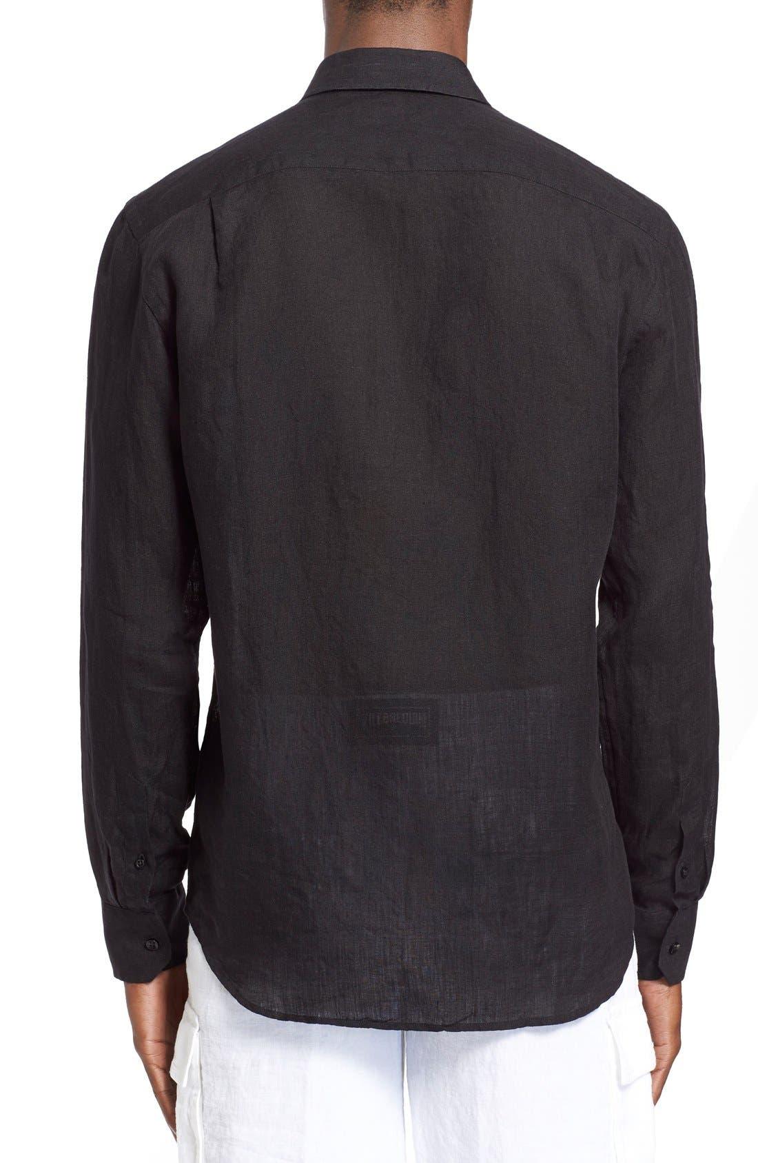 'Caroubier' Linen Shirt,                             Alternate thumbnail 17, color,