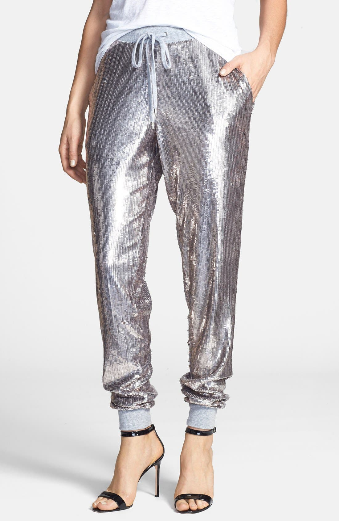 Sequin Track Pants, Main, color, 036