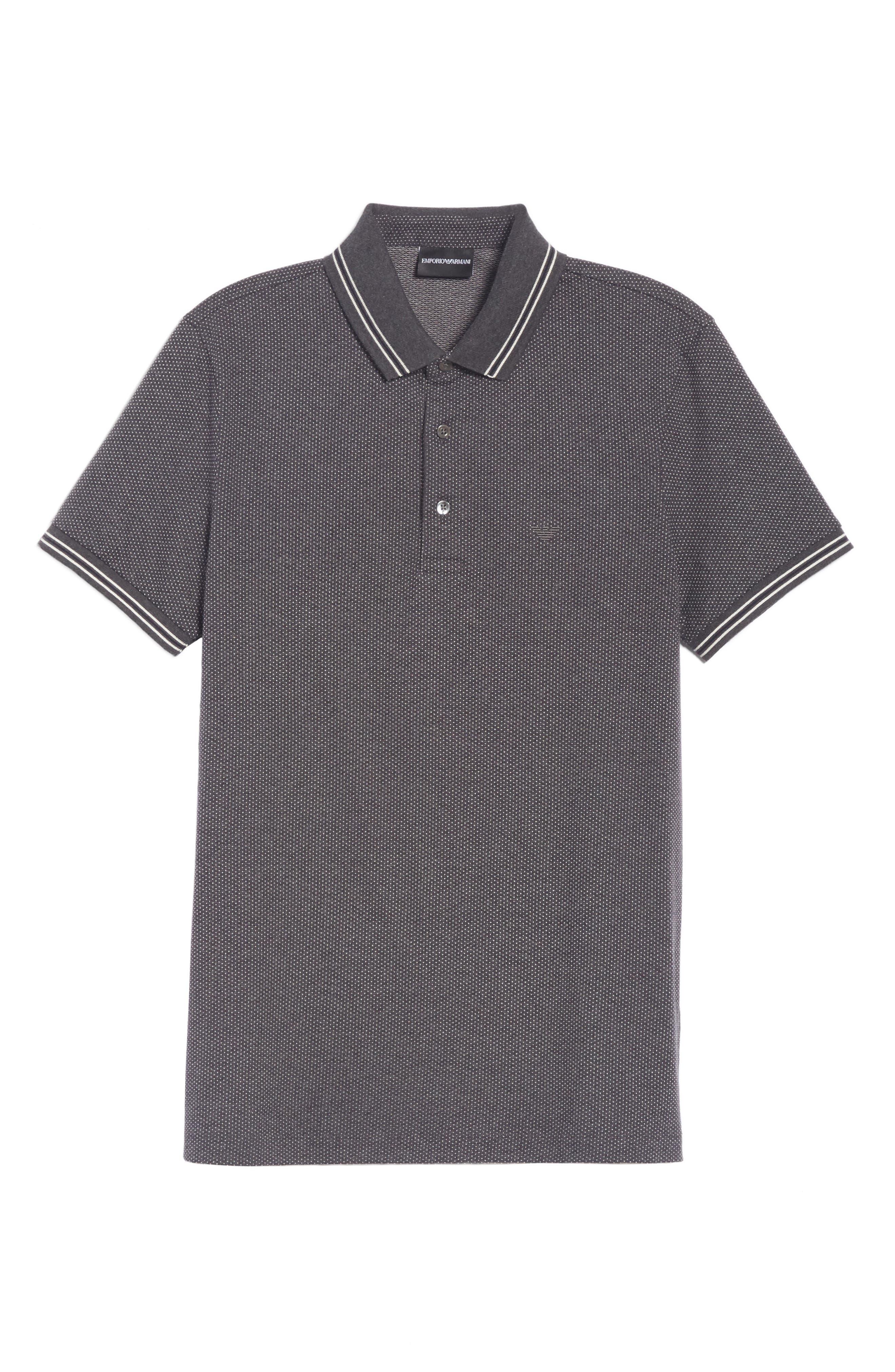 Cotton Polo Shirt,                             Alternate thumbnail 6, color,                             BLACK