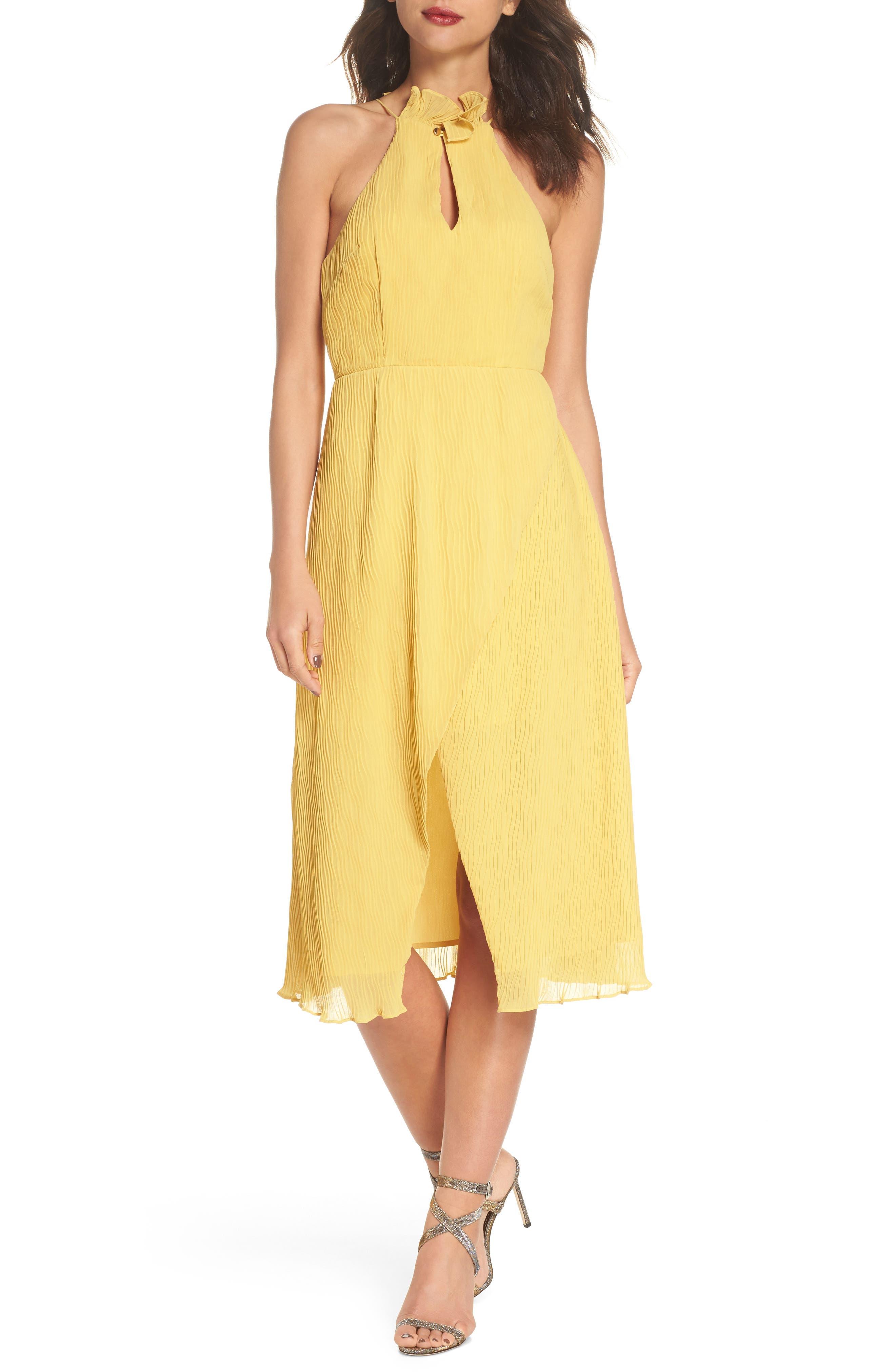 Skylines Halter Midi Dress,                             Main thumbnail 2, color,