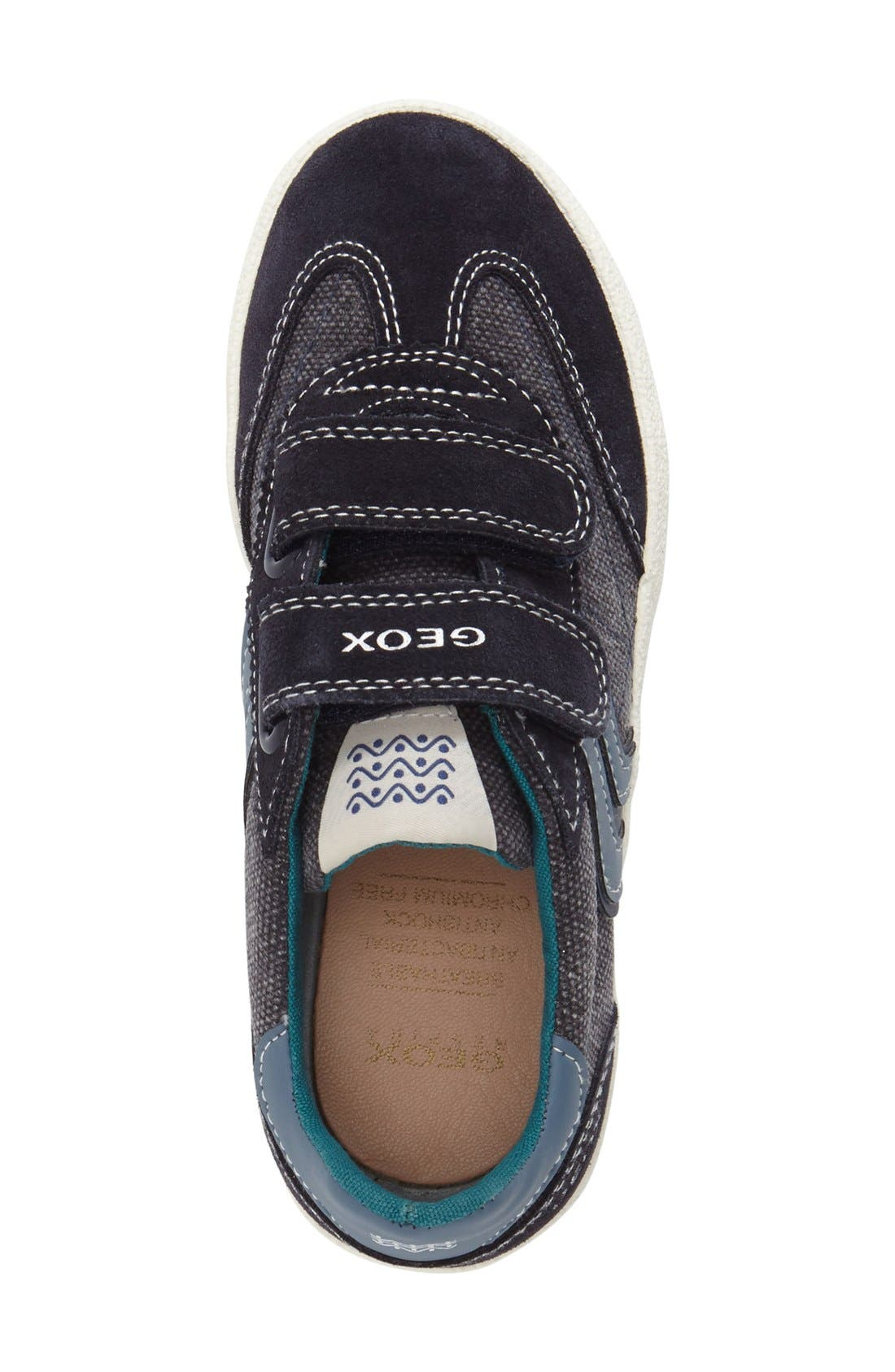 GEOX,                             Kiwi Waterproof Sneaker,                             Alternate thumbnail 4, color,                             DARK BLUE