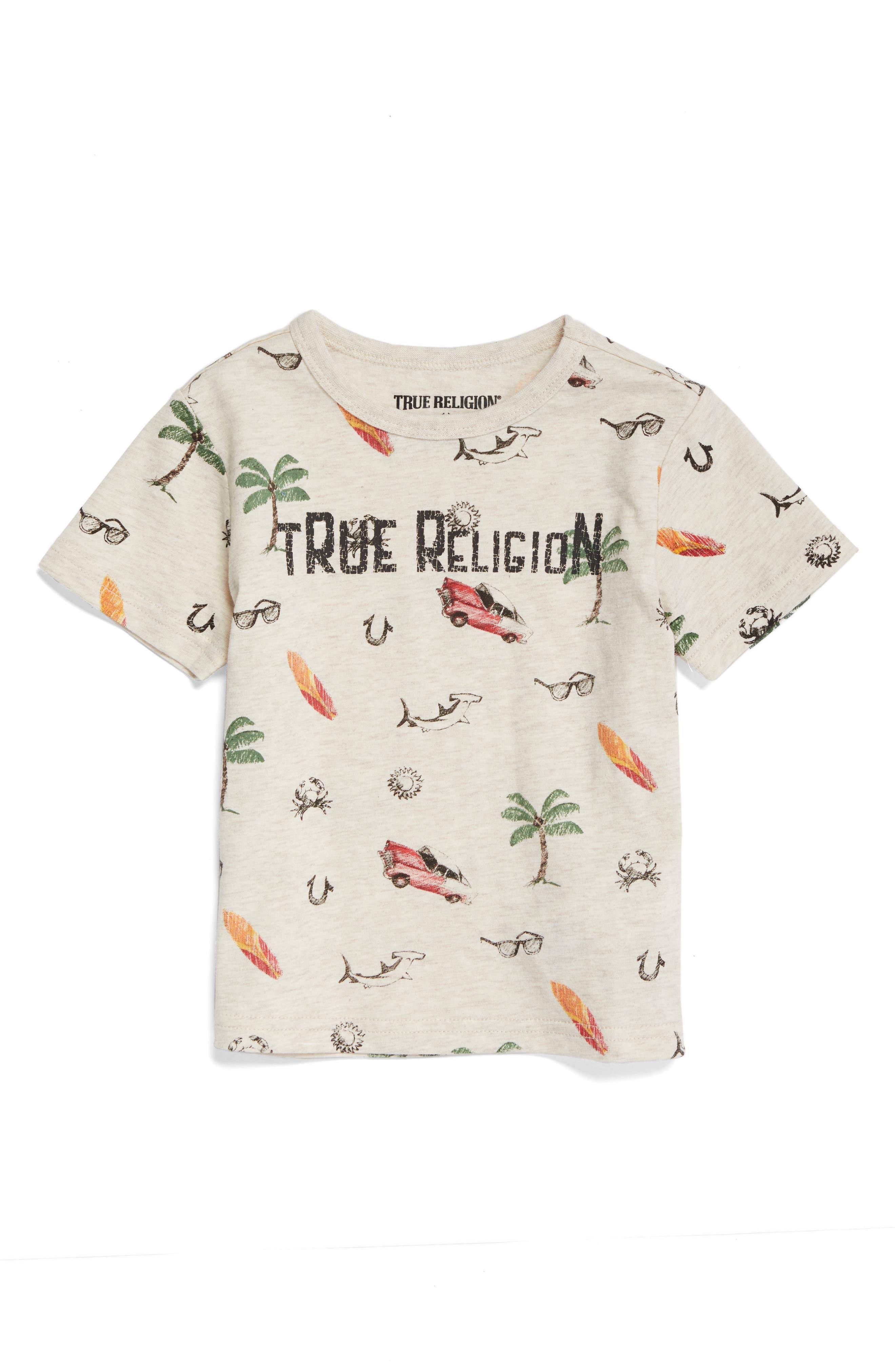 True Religion Retro Doodle T-Shirt,                         Main,                         color, 290