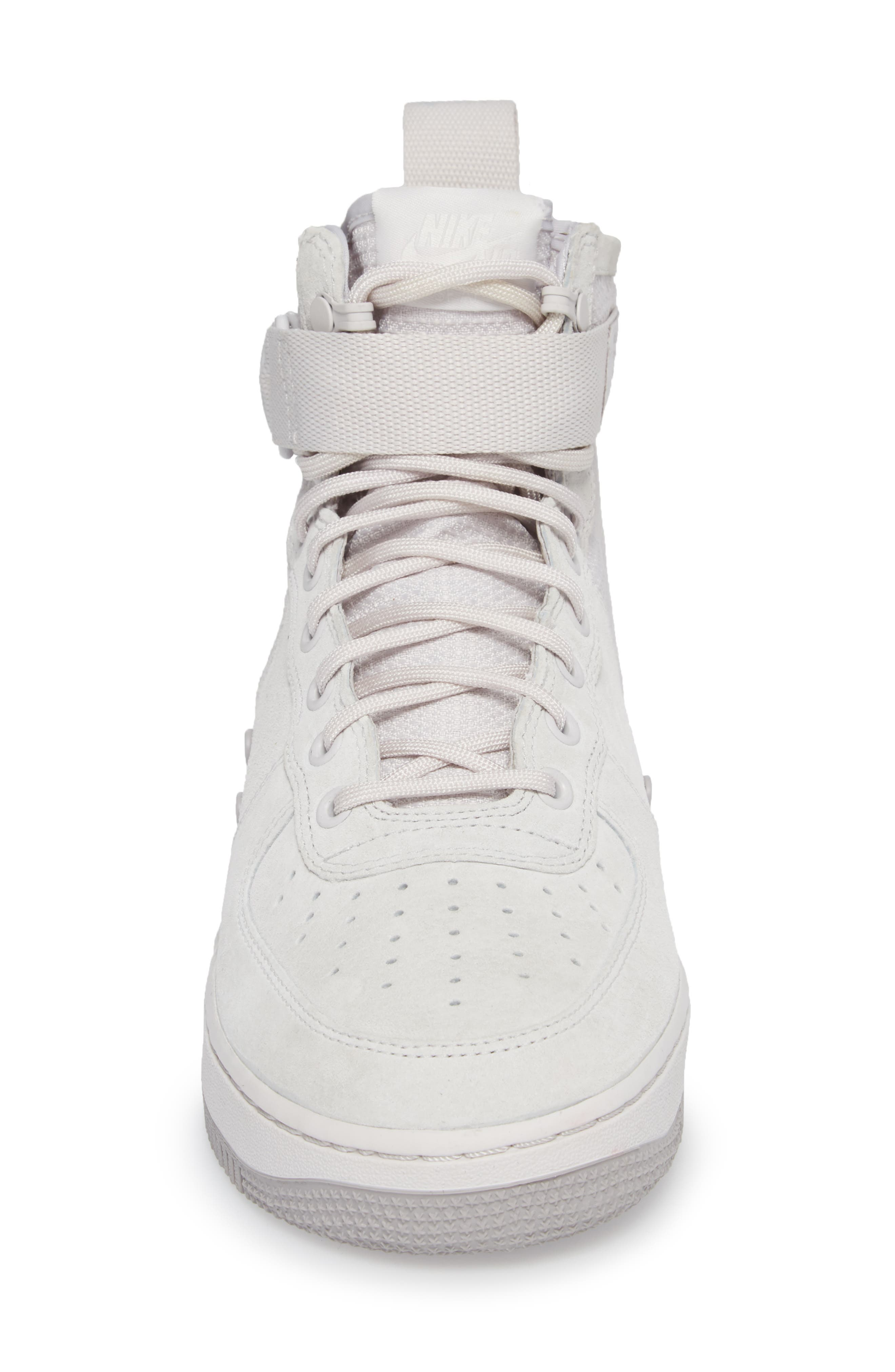 SF Air Force 1 Mid Suede Sneaker,                             Alternate thumbnail 4, color,                             021