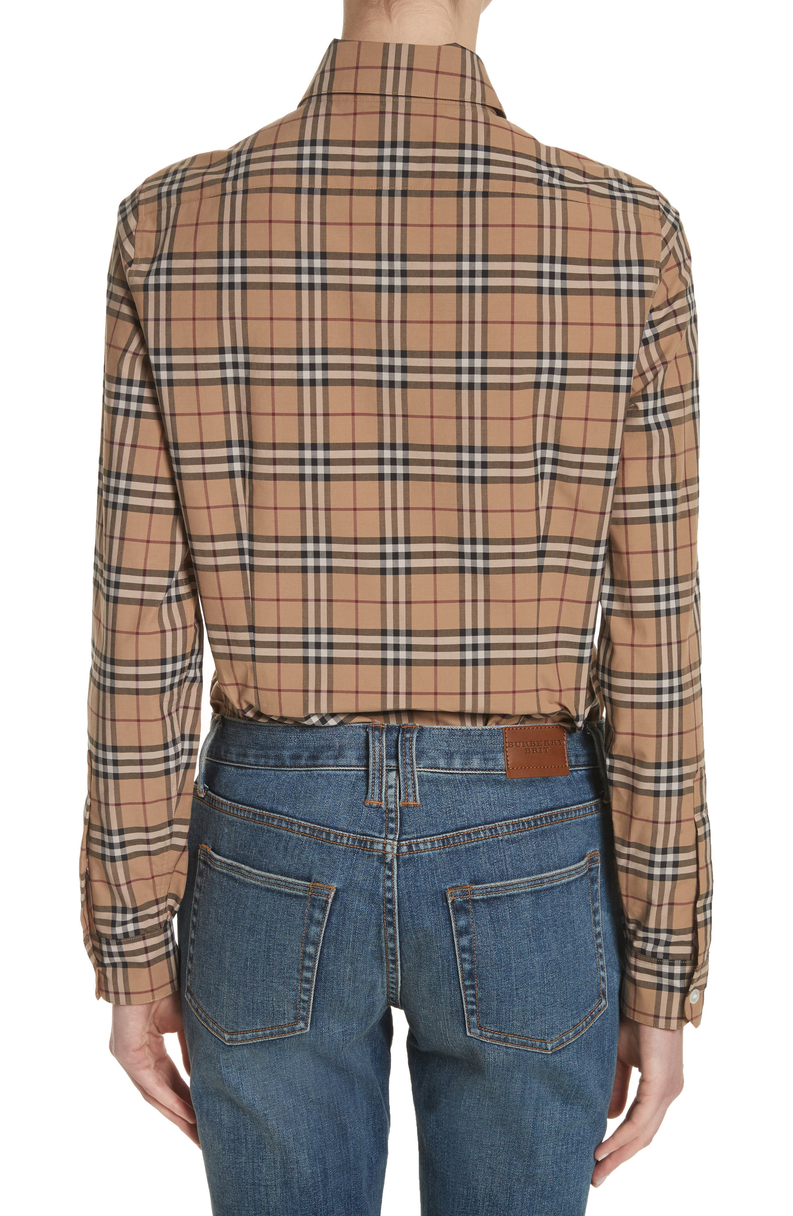 Vintage Check Cotton Shirt,                             Alternate thumbnail 2, color,                             231