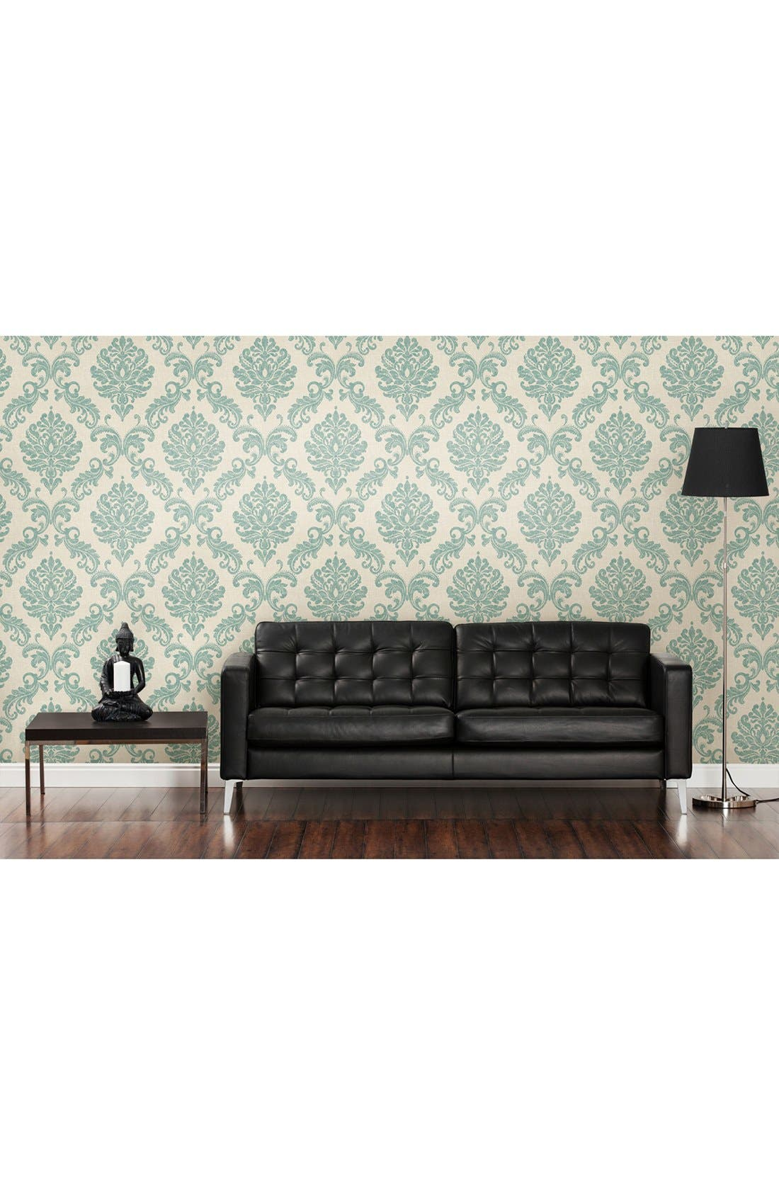 'Sebastion Damask' Unpasted Wallpaper,                             Alternate thumbnail 4, color,