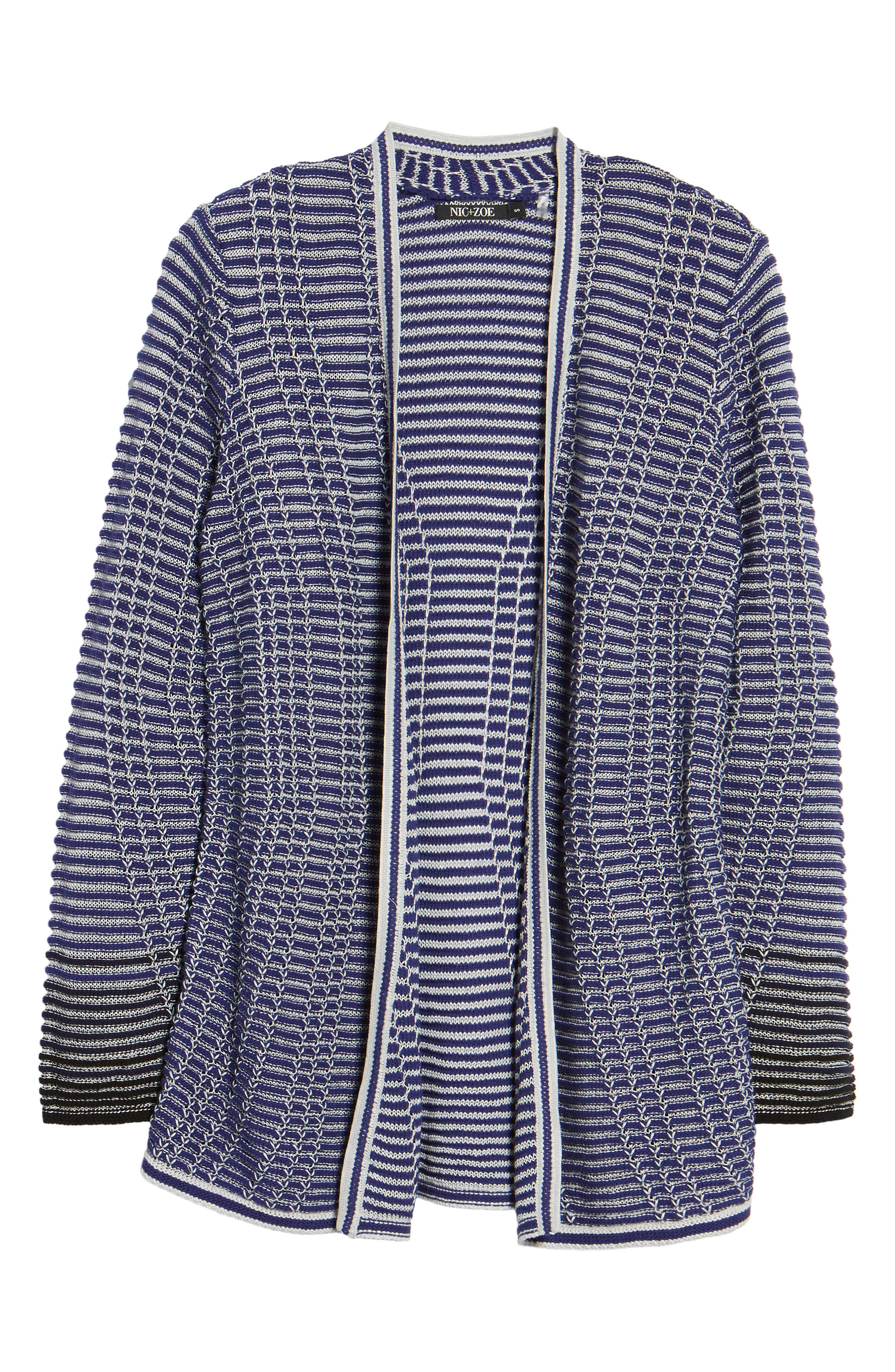 Striped Space Cardigan,                             Alternate thumbnail 12, color,