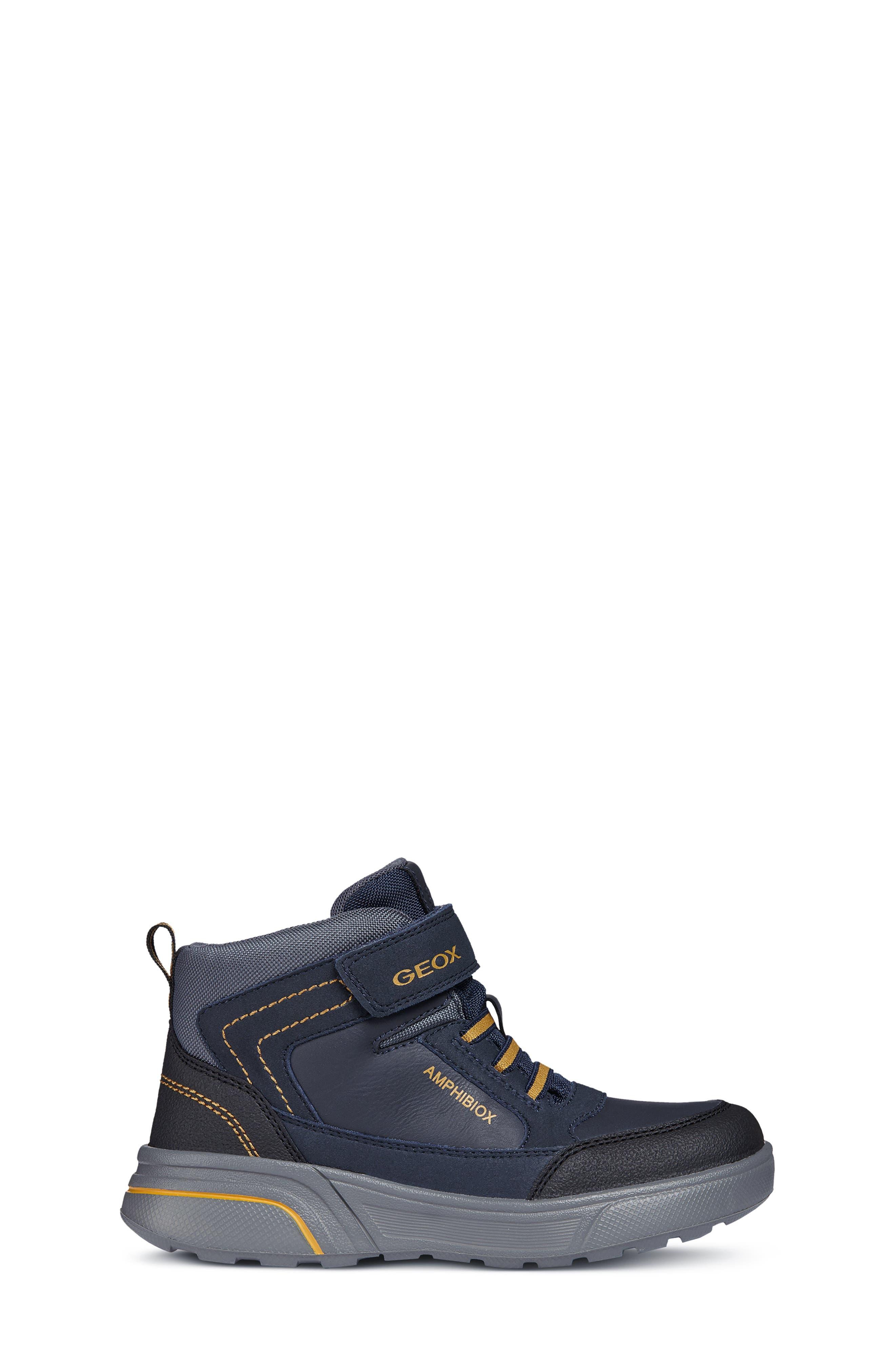 Sveggen ABX Waterproof Sneaker,                             Alternate thumbnail 3, color,                             NAVY/YELLOW