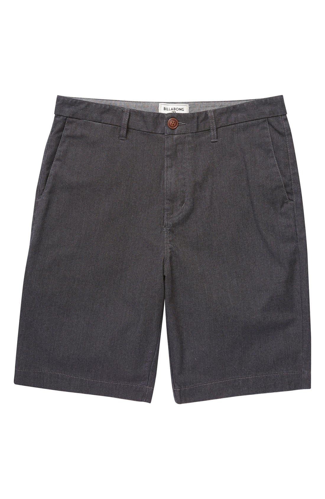 'Carter' Cotton Twill Shorts,                             Main thumbnail 1, color,                             001