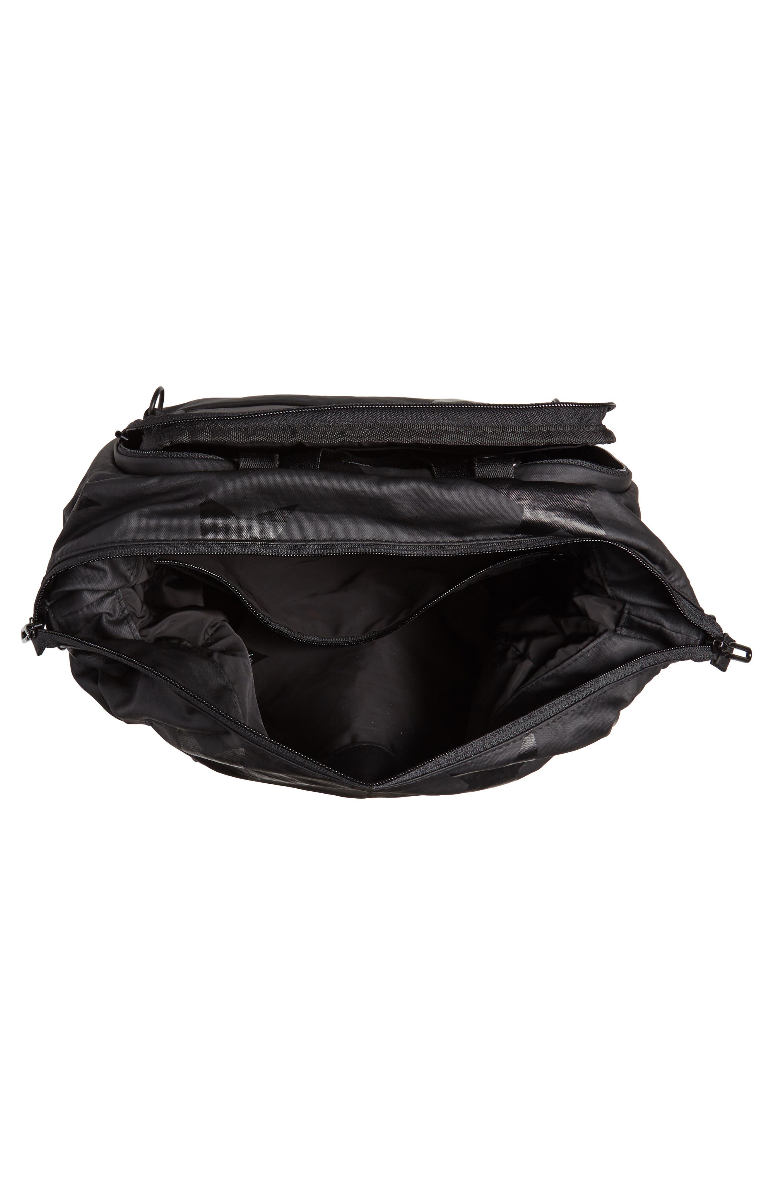 +one duo Nylon Convertible Diaper Bag,                             Alternate thumbnail 4, color,                             BLACK STAR