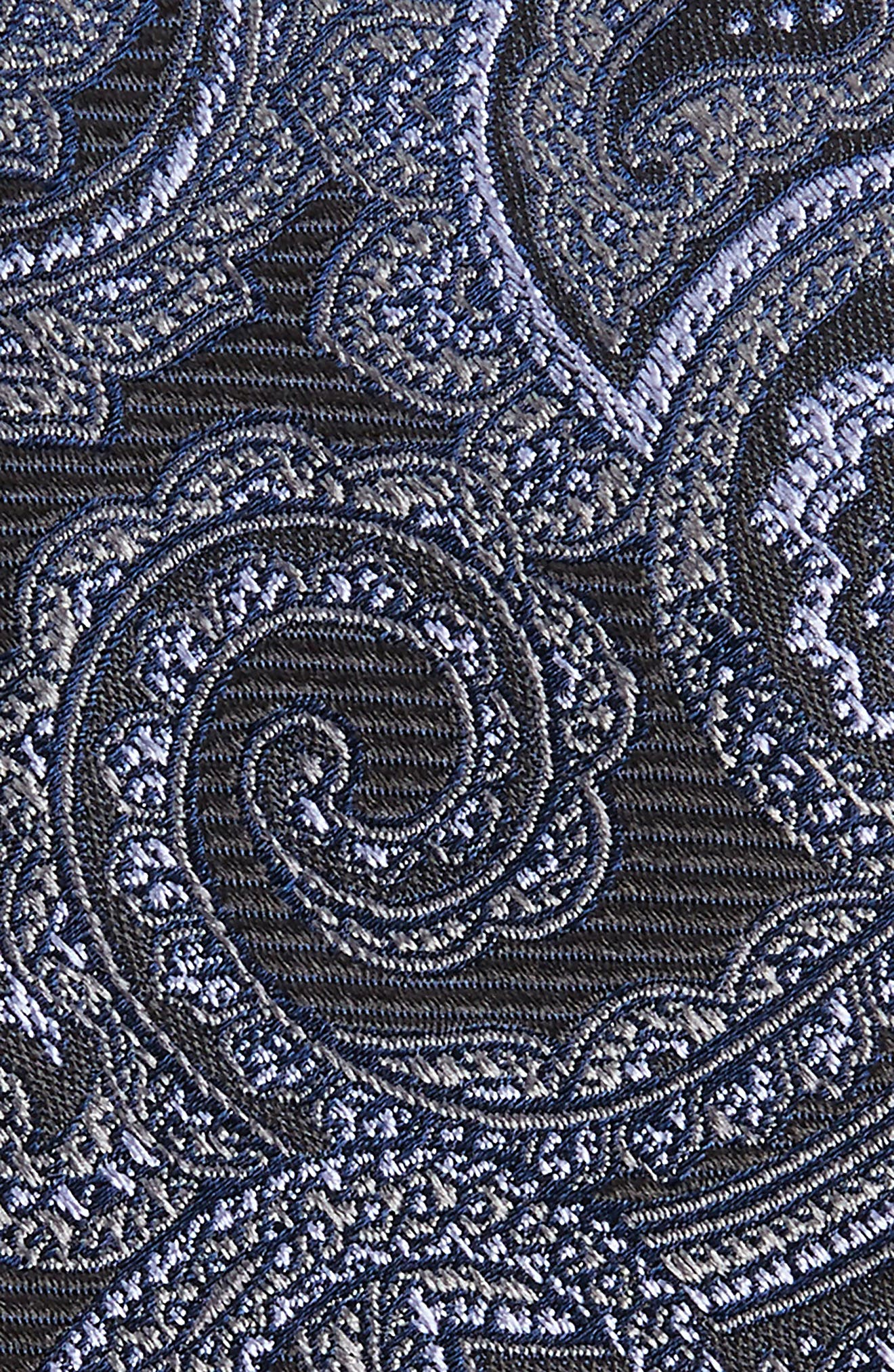 Avalon Paisley Silk Tie,                             Alternate thumbnail 2, color,                             001