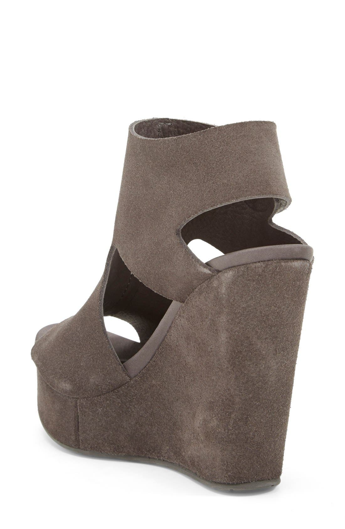 'Terence' Platform Wedge Sandal,                             Alternate thumbnail 4, color,                             020