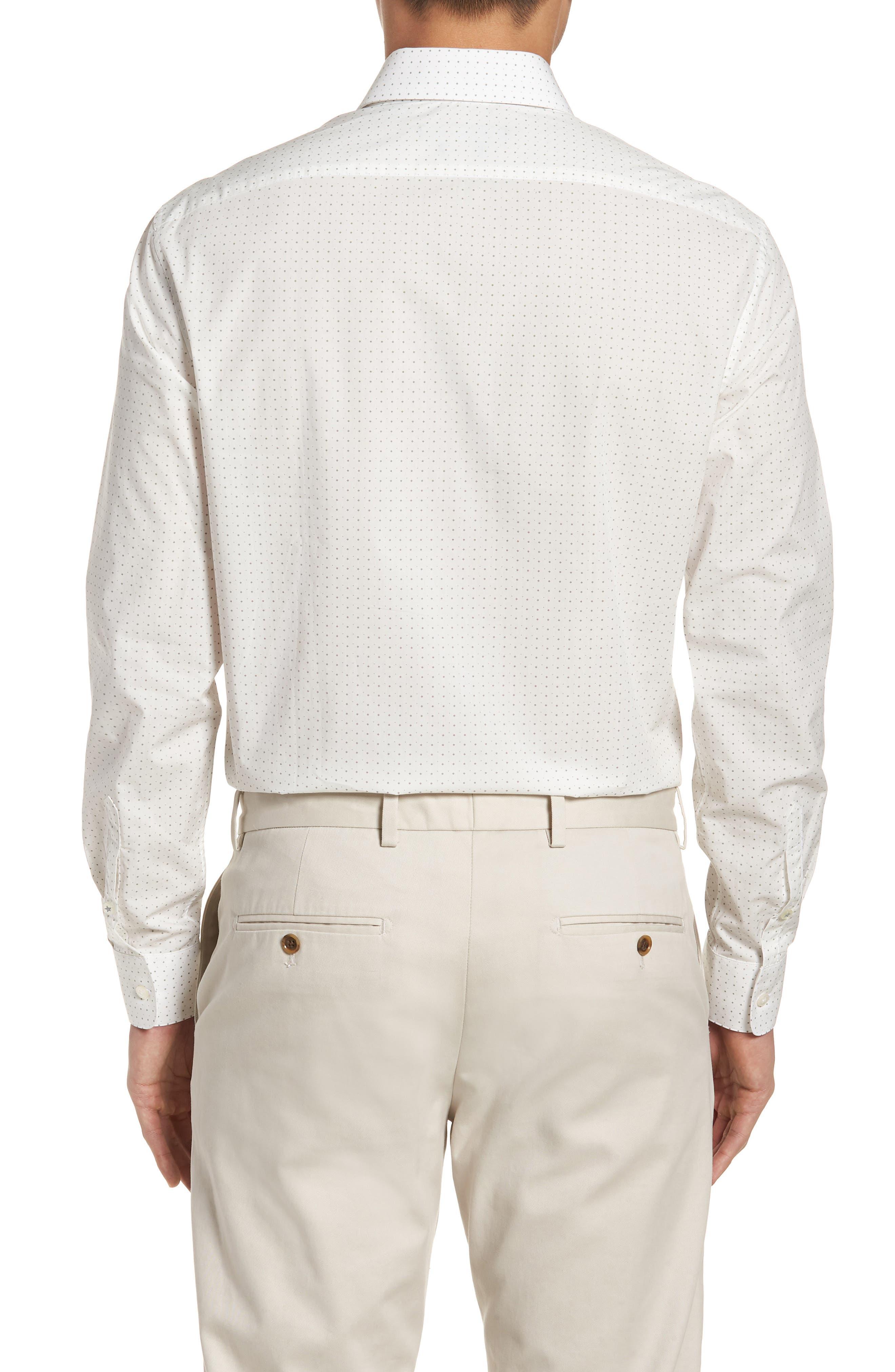 Regular Fit Diamond Dress Shirt,                             Alternate thumbnail 3, color,                             GRIFFIN GREY