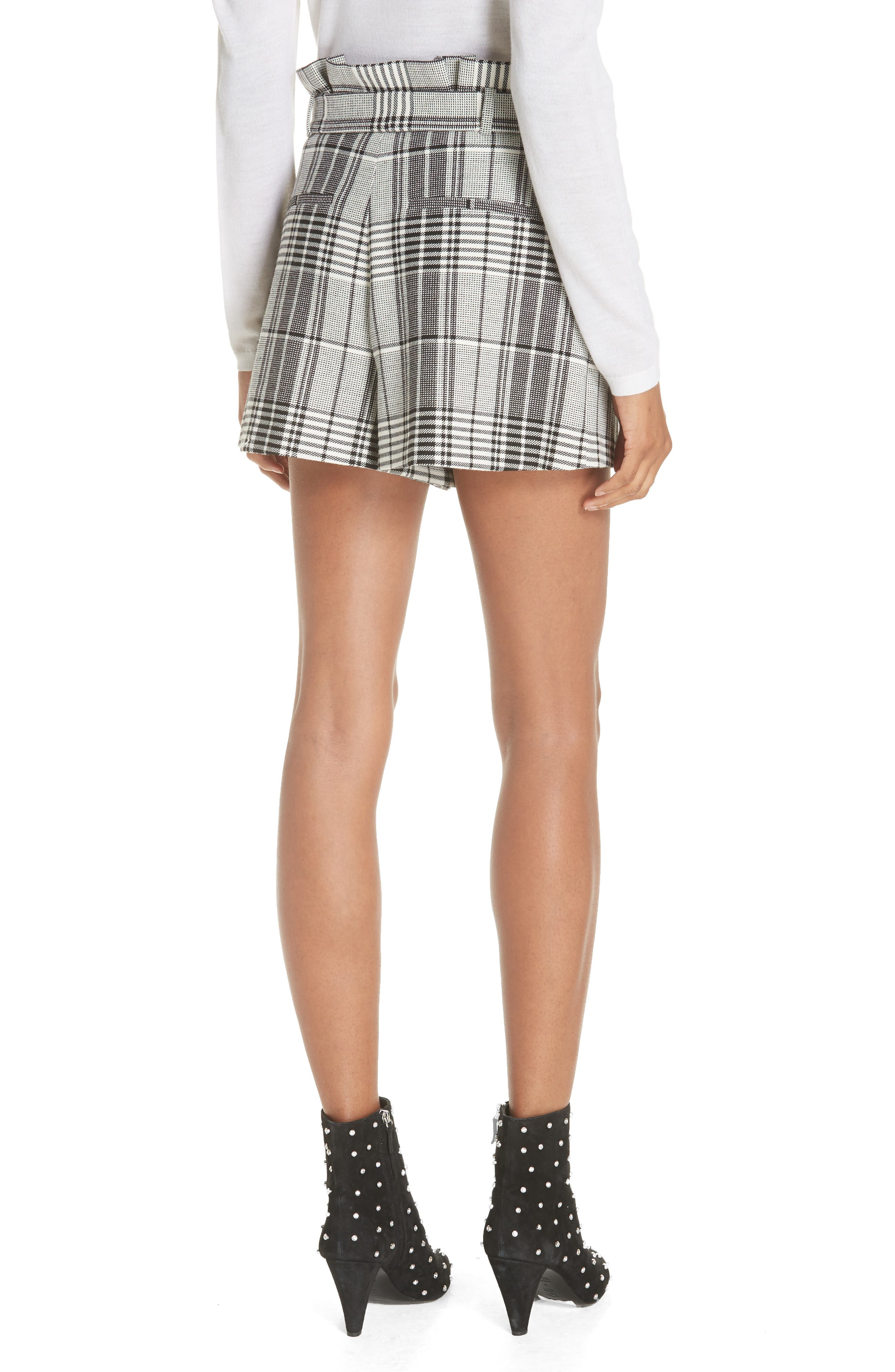 Laurine Paperbag Shorts,                             Alternate thumbnail 2, color,                             009