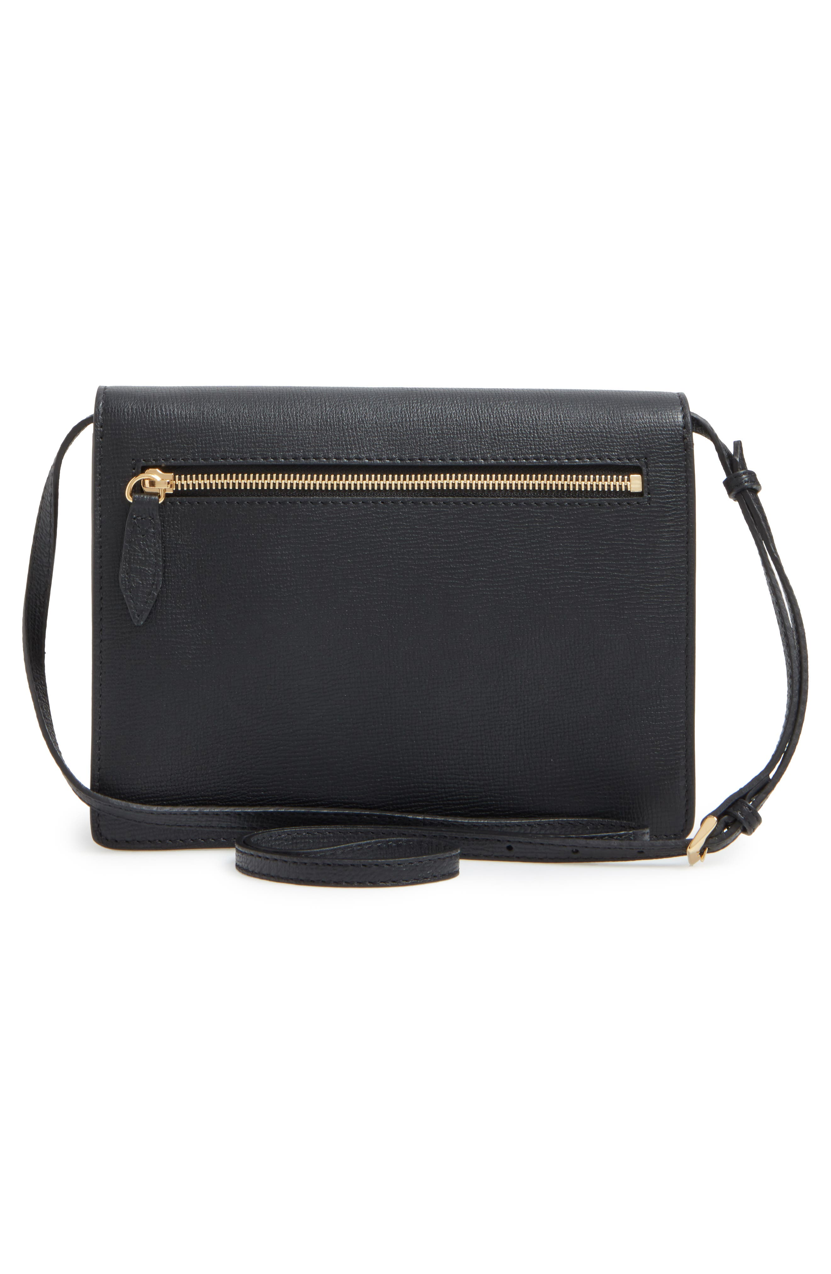 'Small Macken' Check Crossbody Bag,                             Alternate thumbnail 3, color,                             BLACK