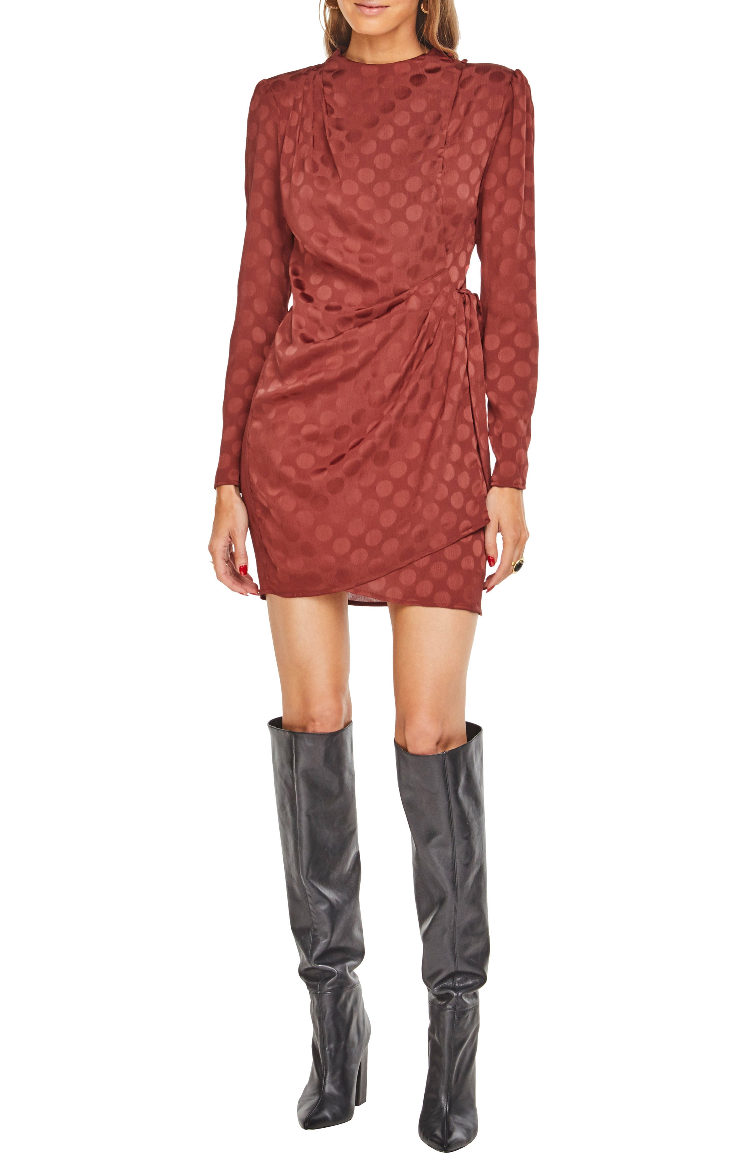 Astr The Label Jolene Minidress, Brown