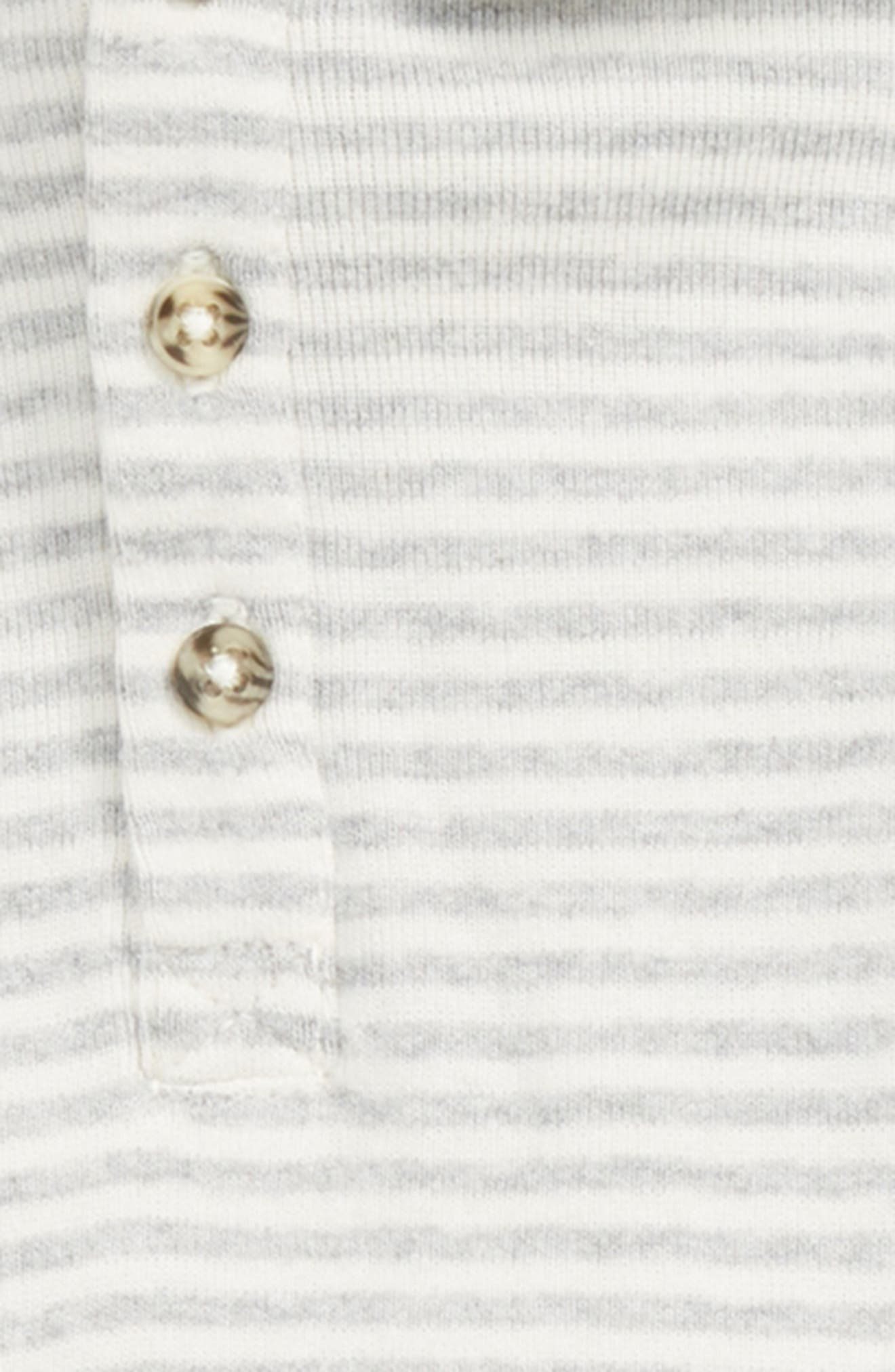 Stripe Henley Hoodie & Velour Pants Set,                             Alternate thumbnail 2, color,                             IVORY VANILLA STRIPE