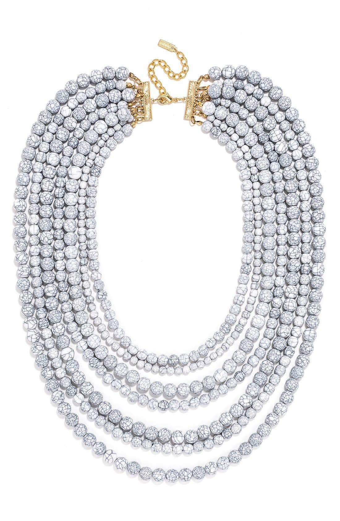 'Bold' Multistrand Beaded Statement Necklace,                             Main thumbnail 3, color,
