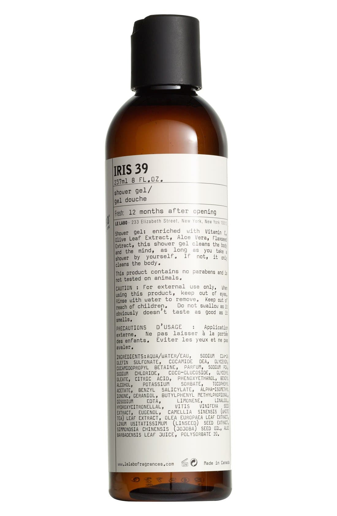 'Iris 39' Shower Gel,                             Main thumbnail 1, color,                             NO COLOR