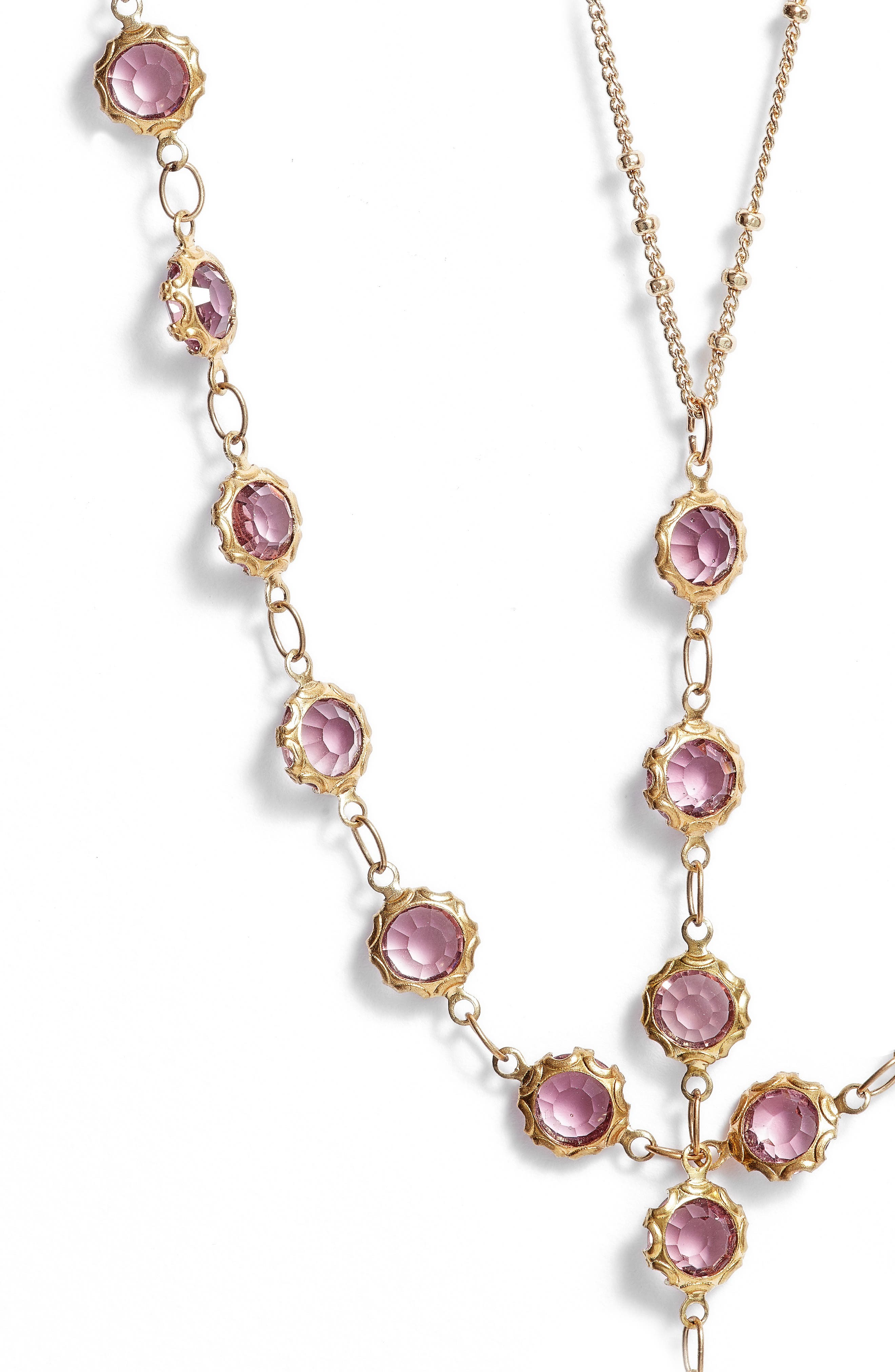 Layered Y-Necklace,                             Alternate thumbnail 2, color,                             710