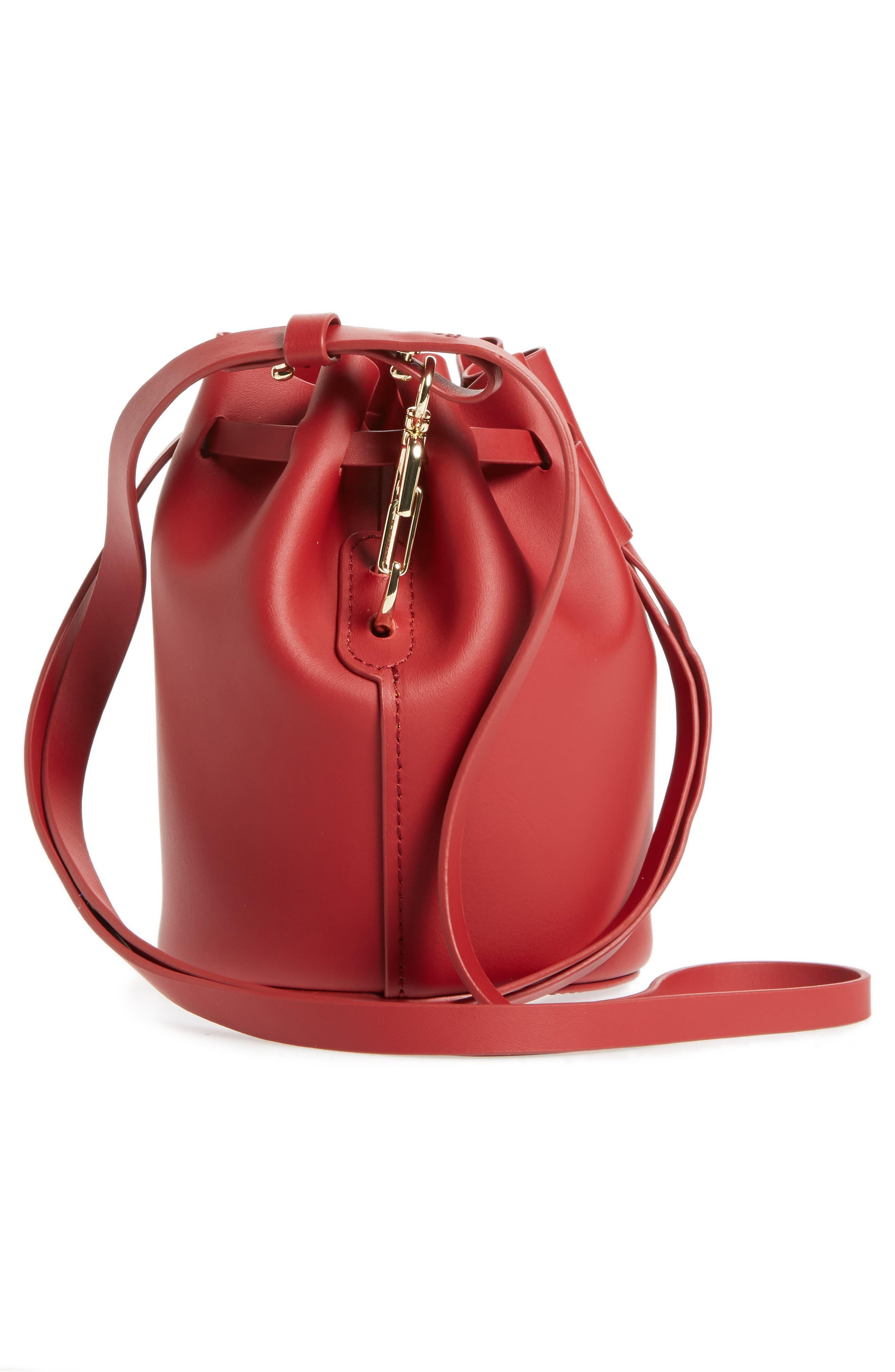 Mini Belay Calfskin Leather Drawstring Bag,                             Alternate thumbnail 15, color,