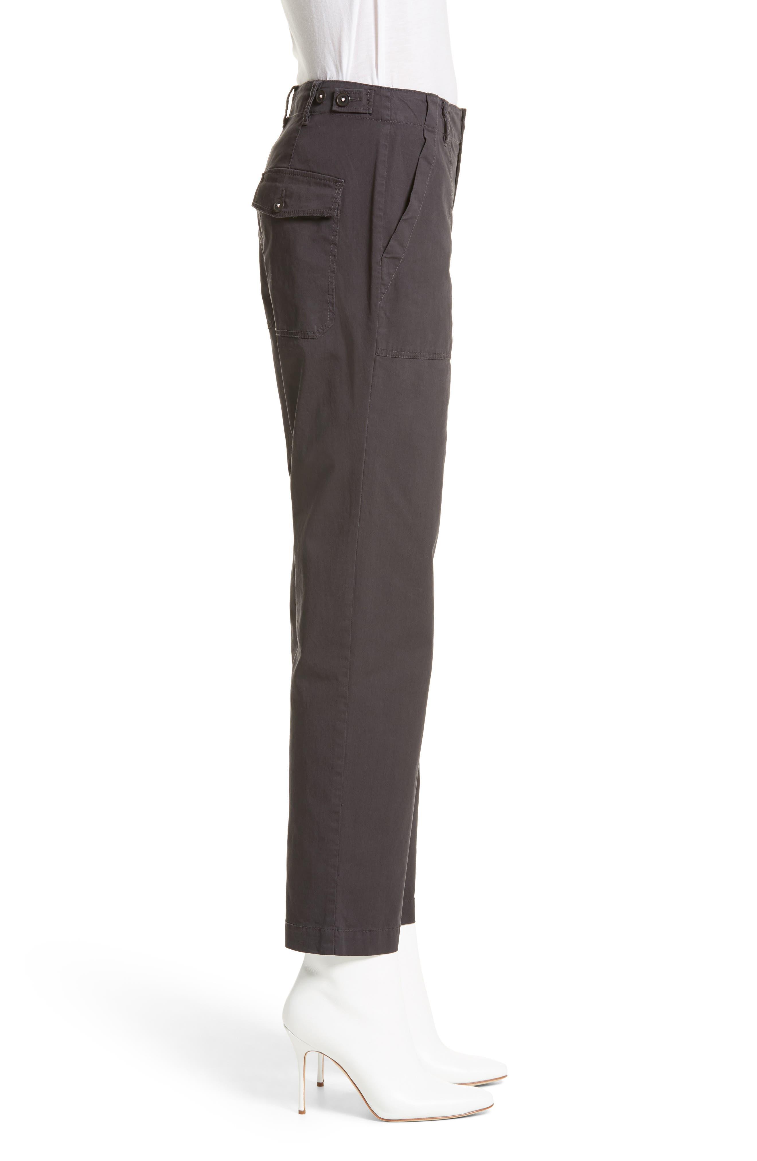 Florian High Waist Pants,                             Alternate thumbnail 3, color,                             065