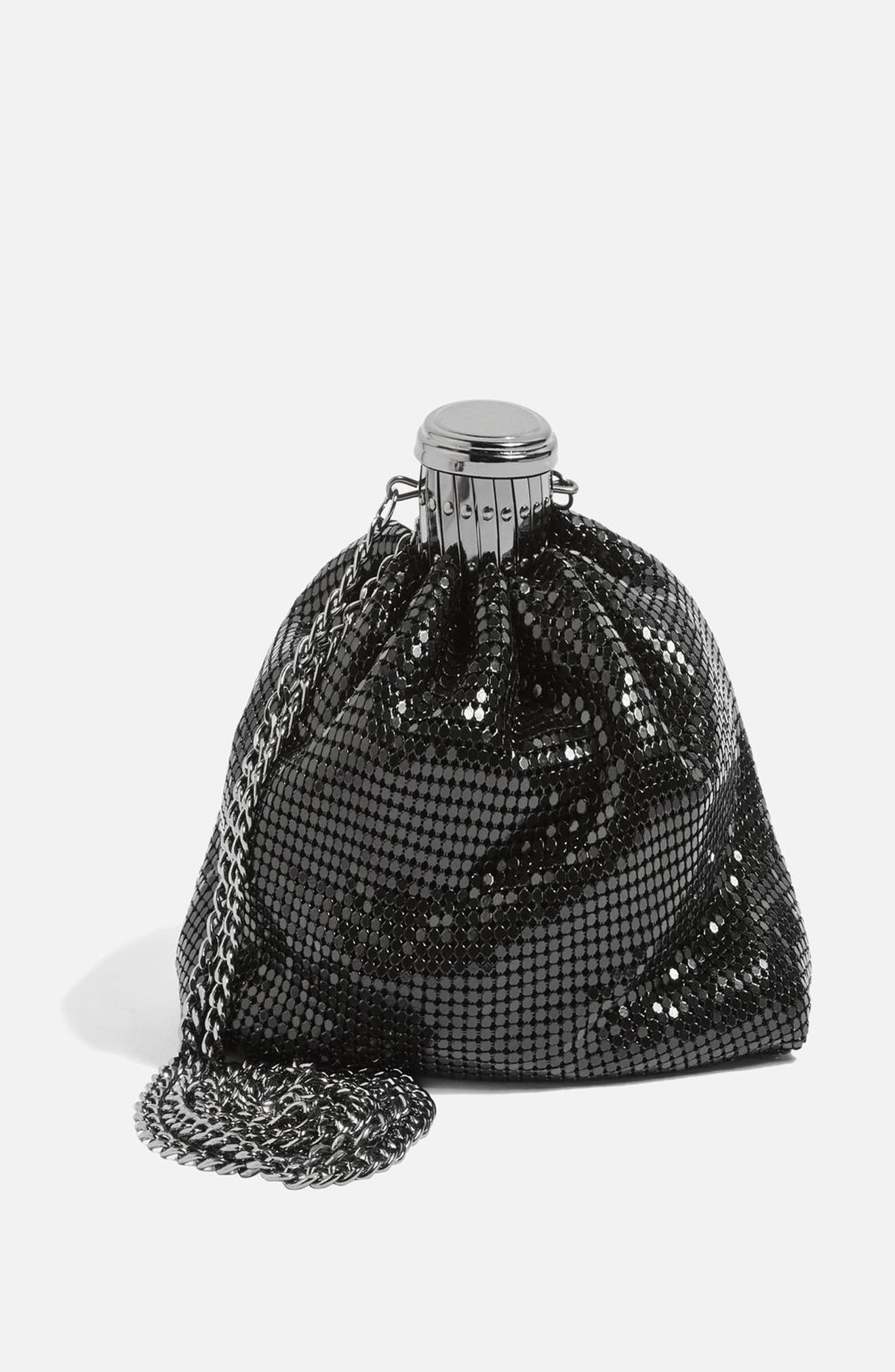 Chain Mail Pouch Crossbody Bag,                             Alternate thumbnail 3, color,                             040