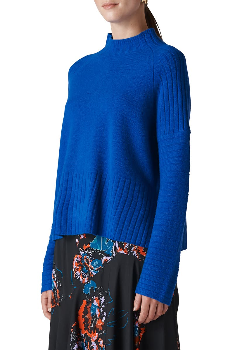 Whistles DIRECTIONAL RIBBED WOOL SWEATER
