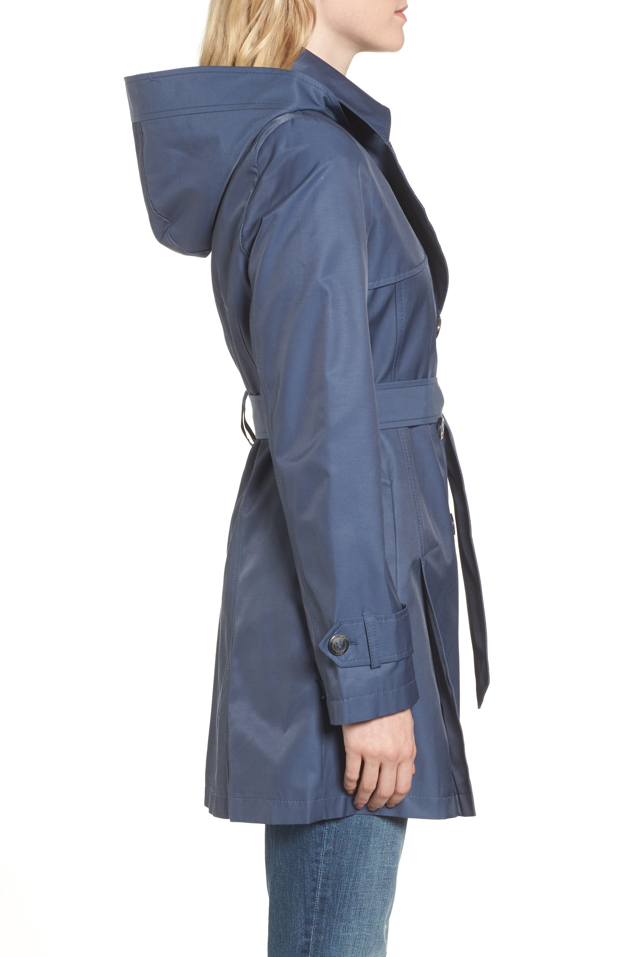 Detachable Hood Trench Coat,                             Alternate thumbnail 22, color,