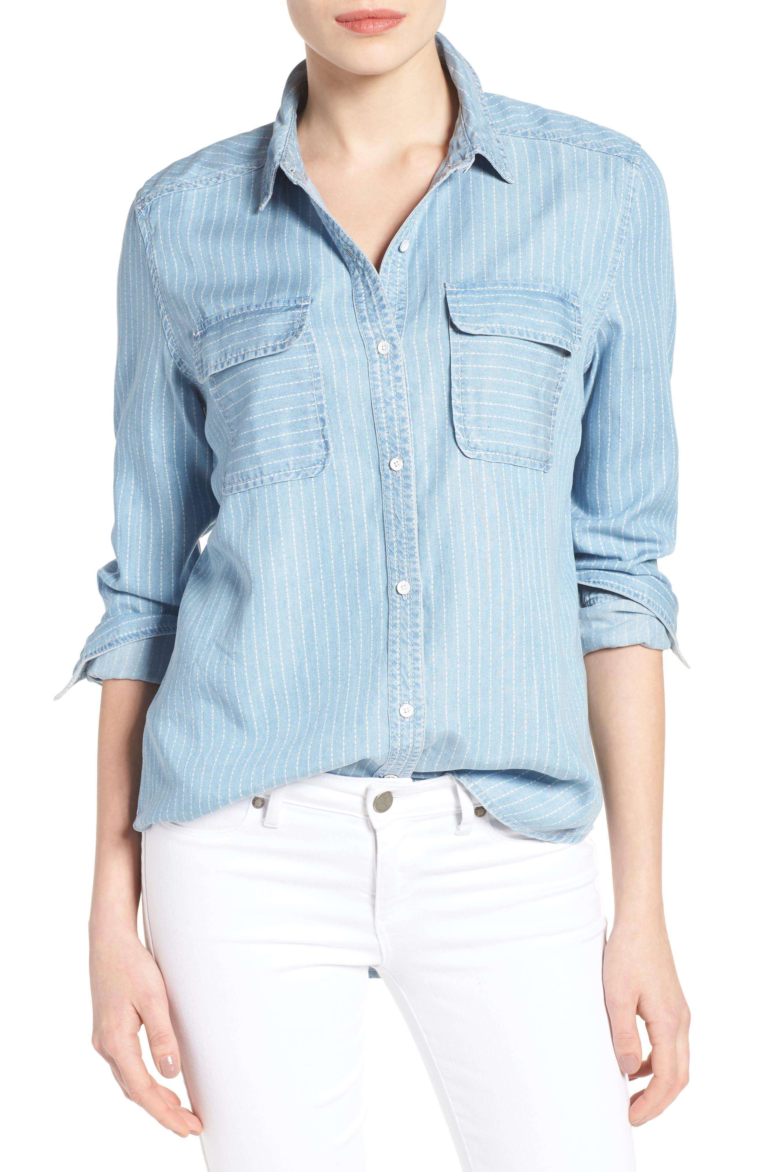 Denim Shirt,                         Main,                         color, 420