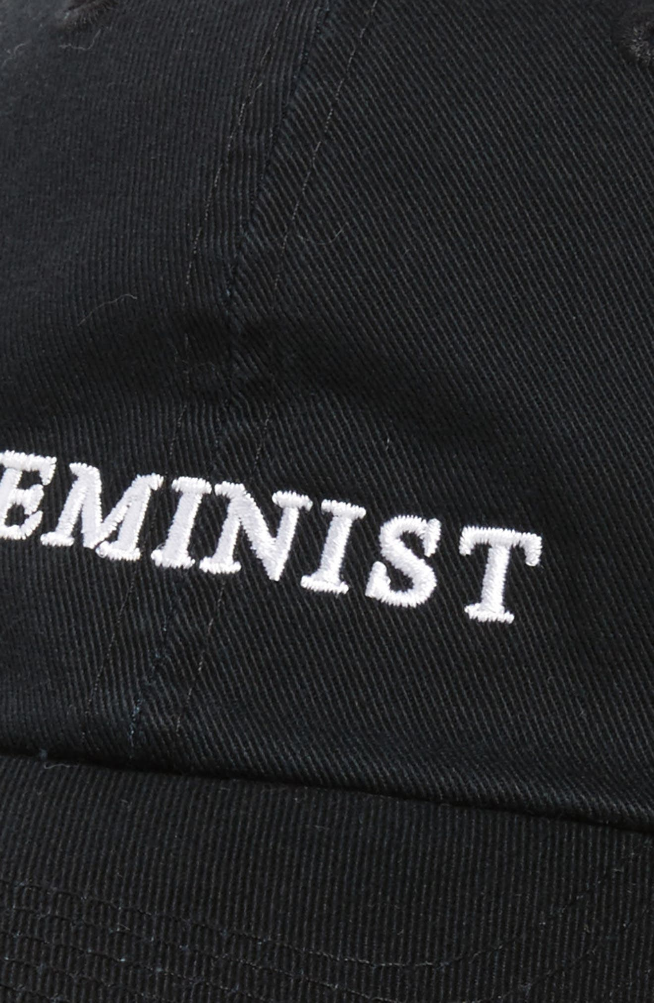Feminist Baseball Cap,                             Alternate thumbnail 4, color,                             001
