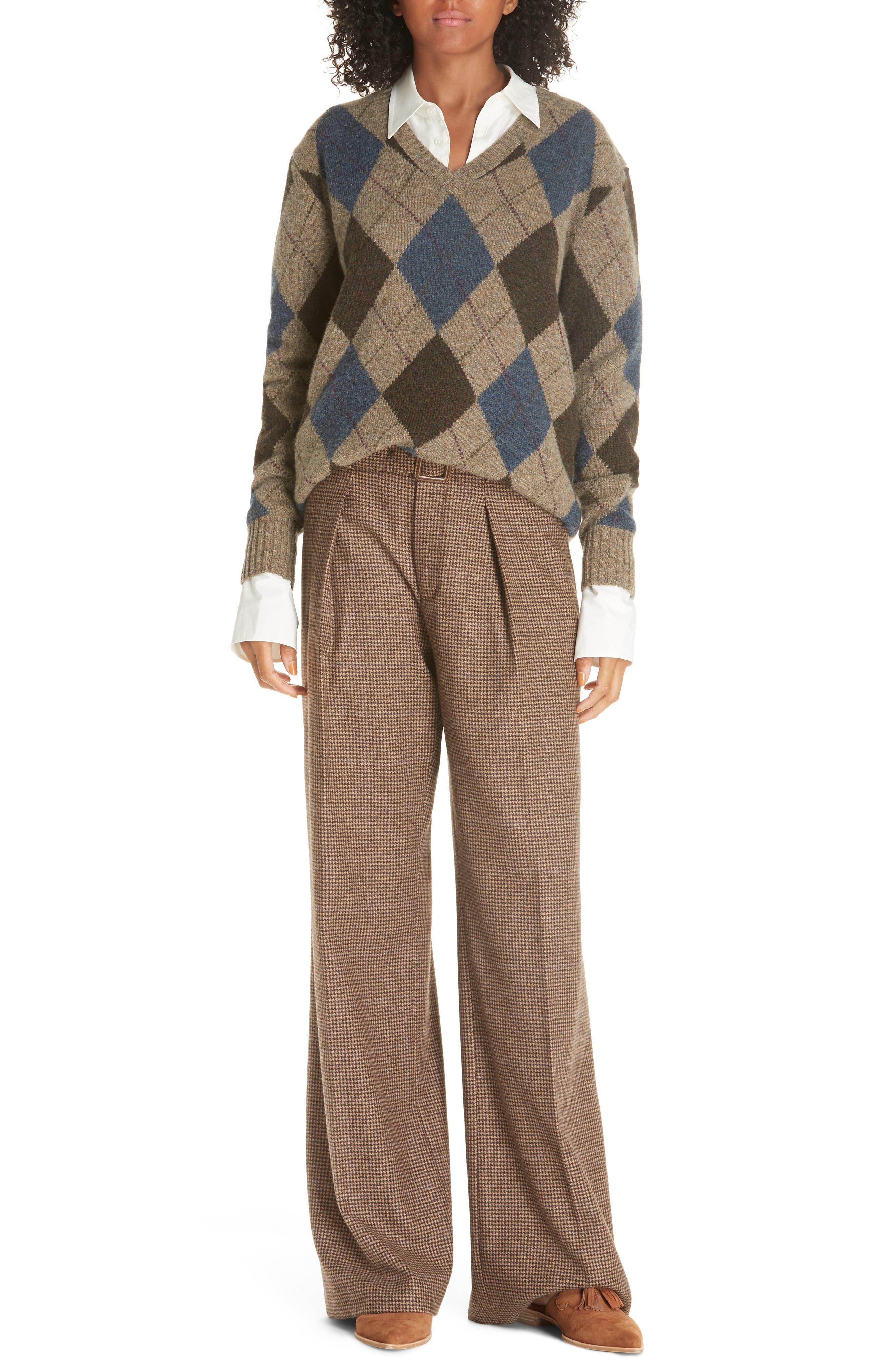 Vintage Sweaters – 1910s, 1920s, 1930s Pictures Womens Polo Ralph Lauren Argyle Sweater $209.98 AT vintagedancer.com