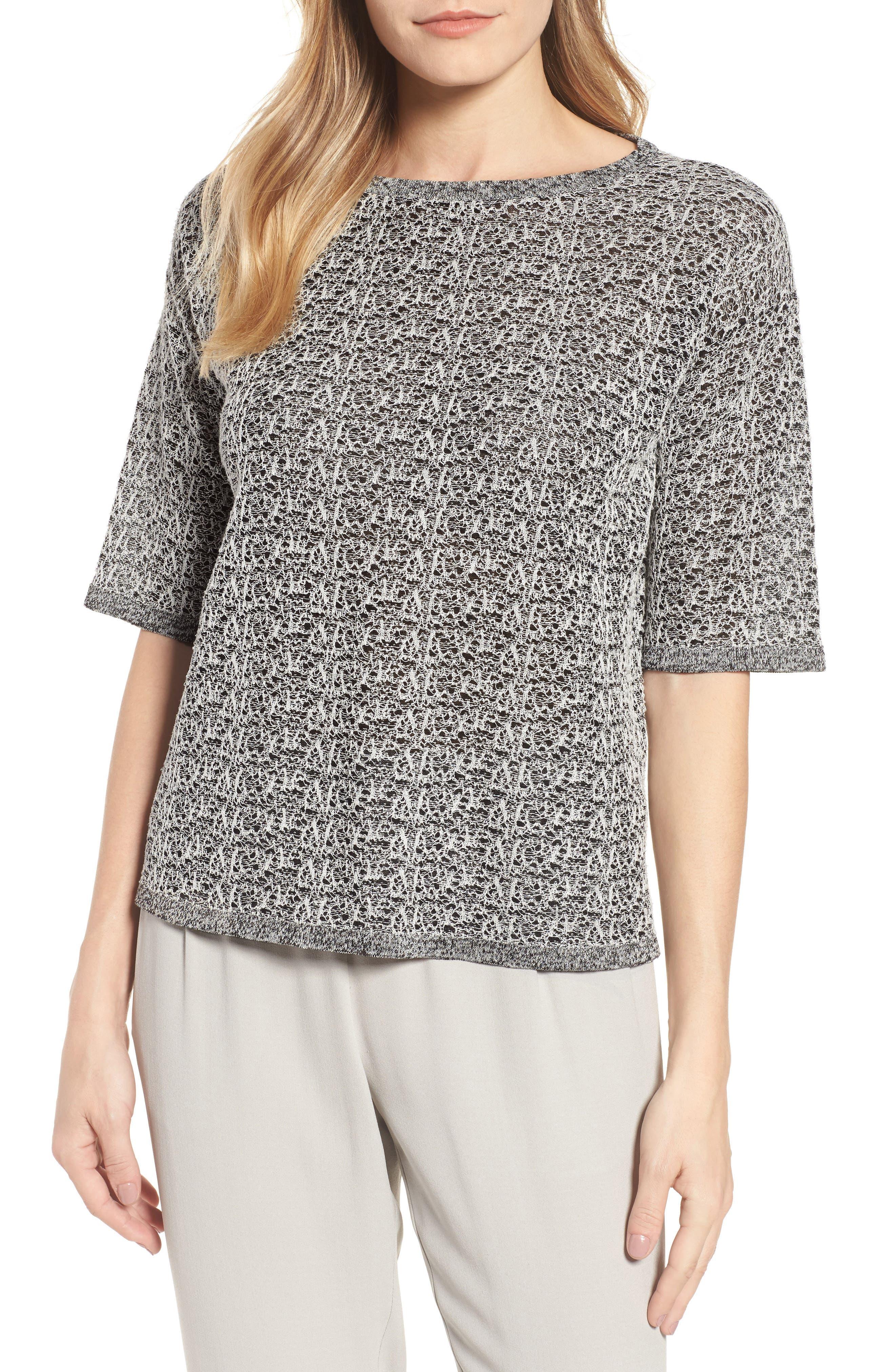 Organic Linen Blend Knit Top,                         Main,                         color,
