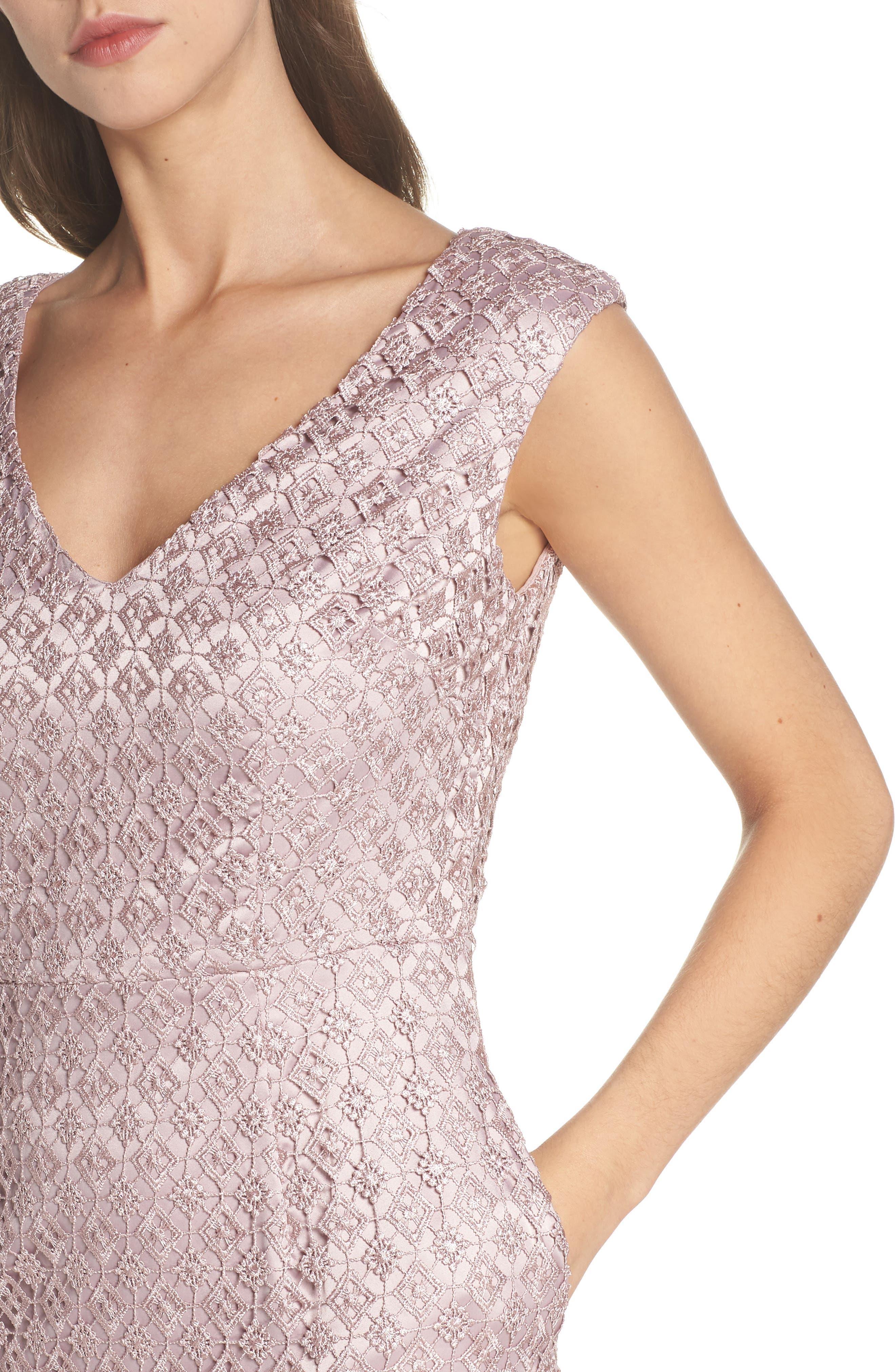 Guipure Lace Dress,                             Alternate thumbnail 4, color,                             680