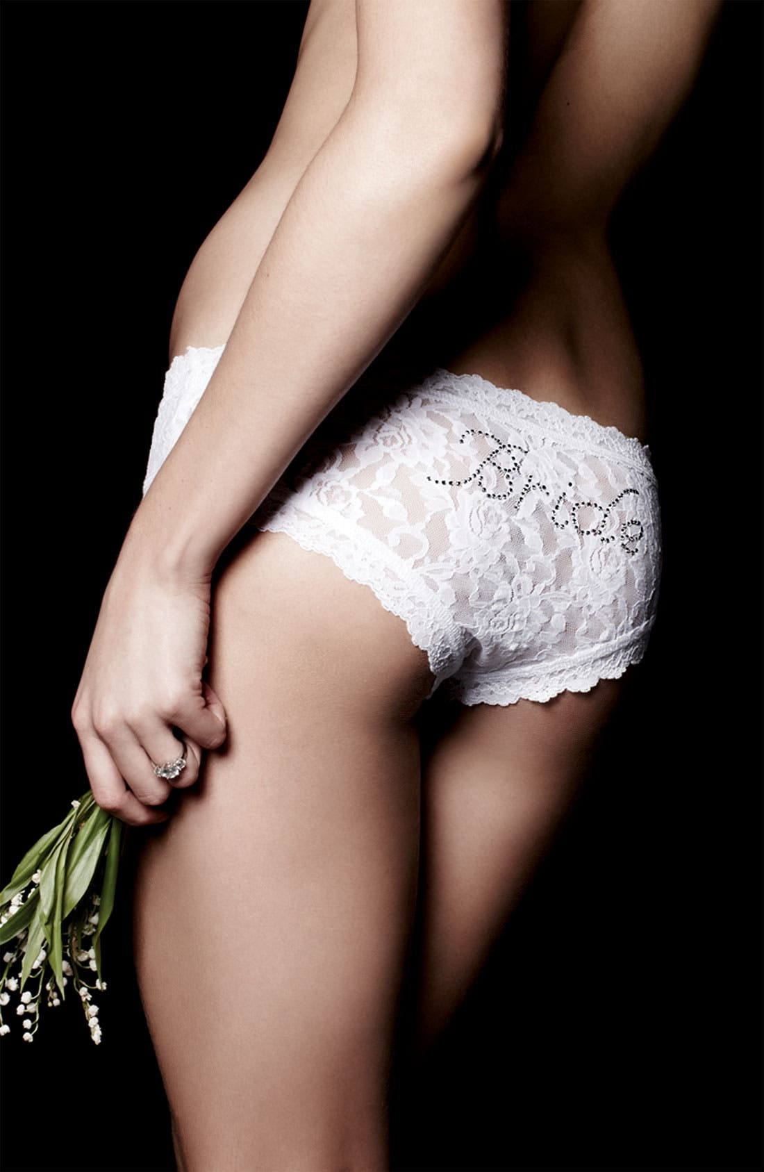 'Bride' Lace Hipster Panties,                             Alternate thumbnail 2, color,                             WHITE