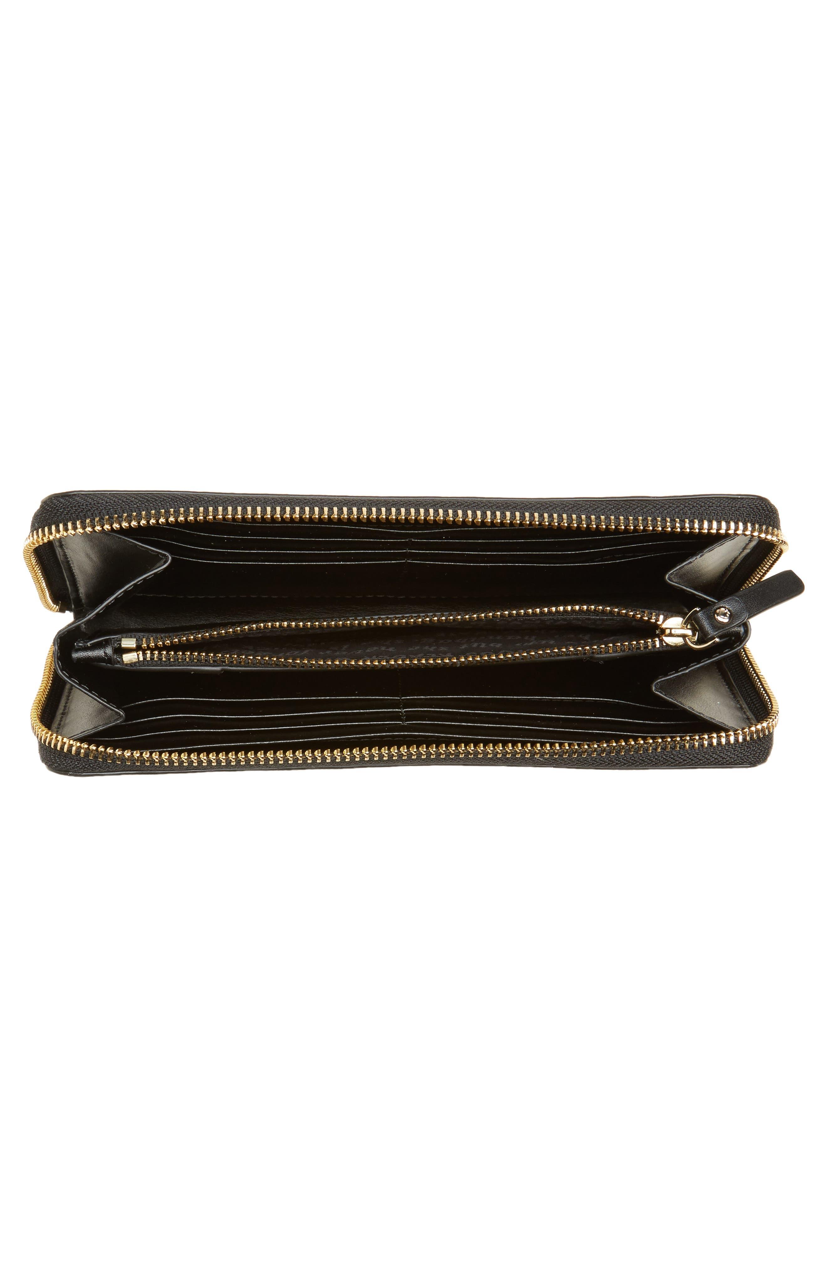hyde lane michele floral faux leather wallet,                             Alternate thumbnail 4, color,                             687