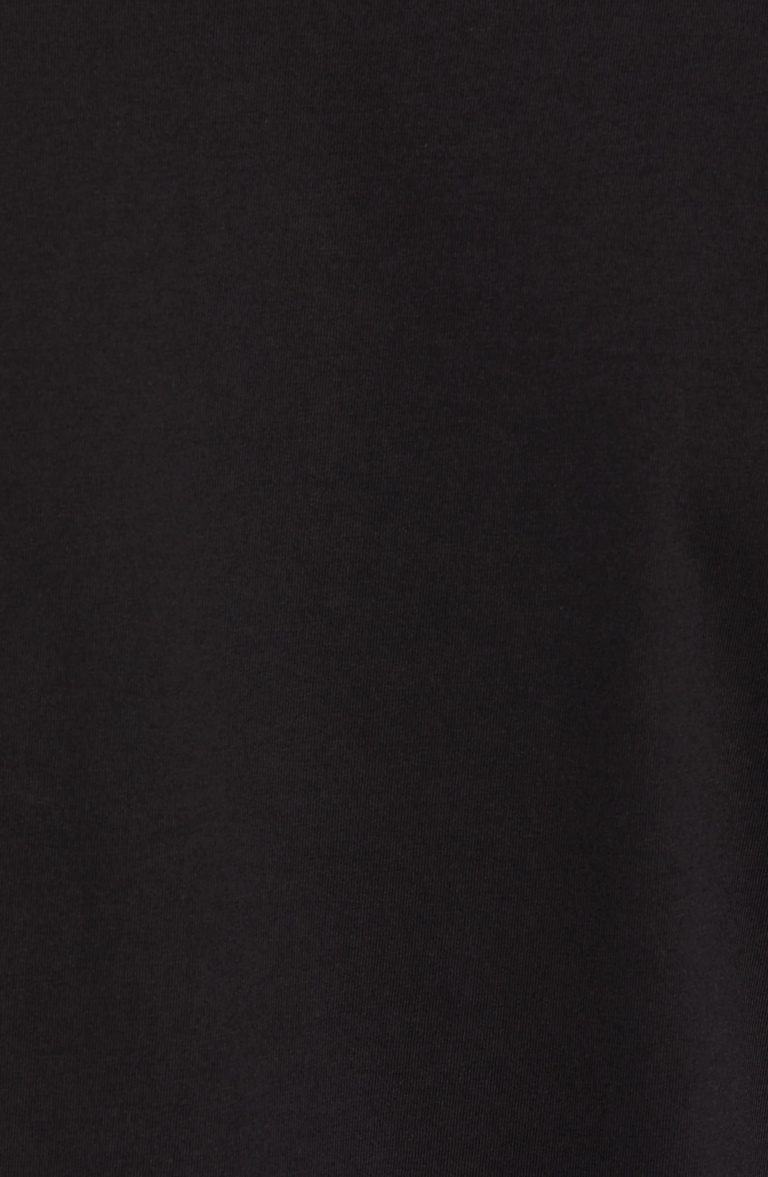 Trim Fit Henley T-Shirt,                             Alternate thumbnail 5, color,                             001