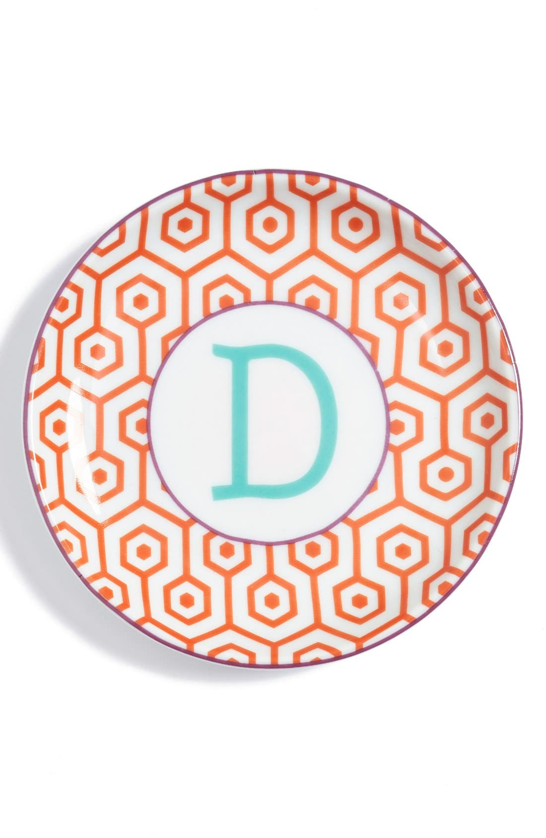 'L'Alphabet' Porcelain Tray,                             Main thumbnail 6, color,