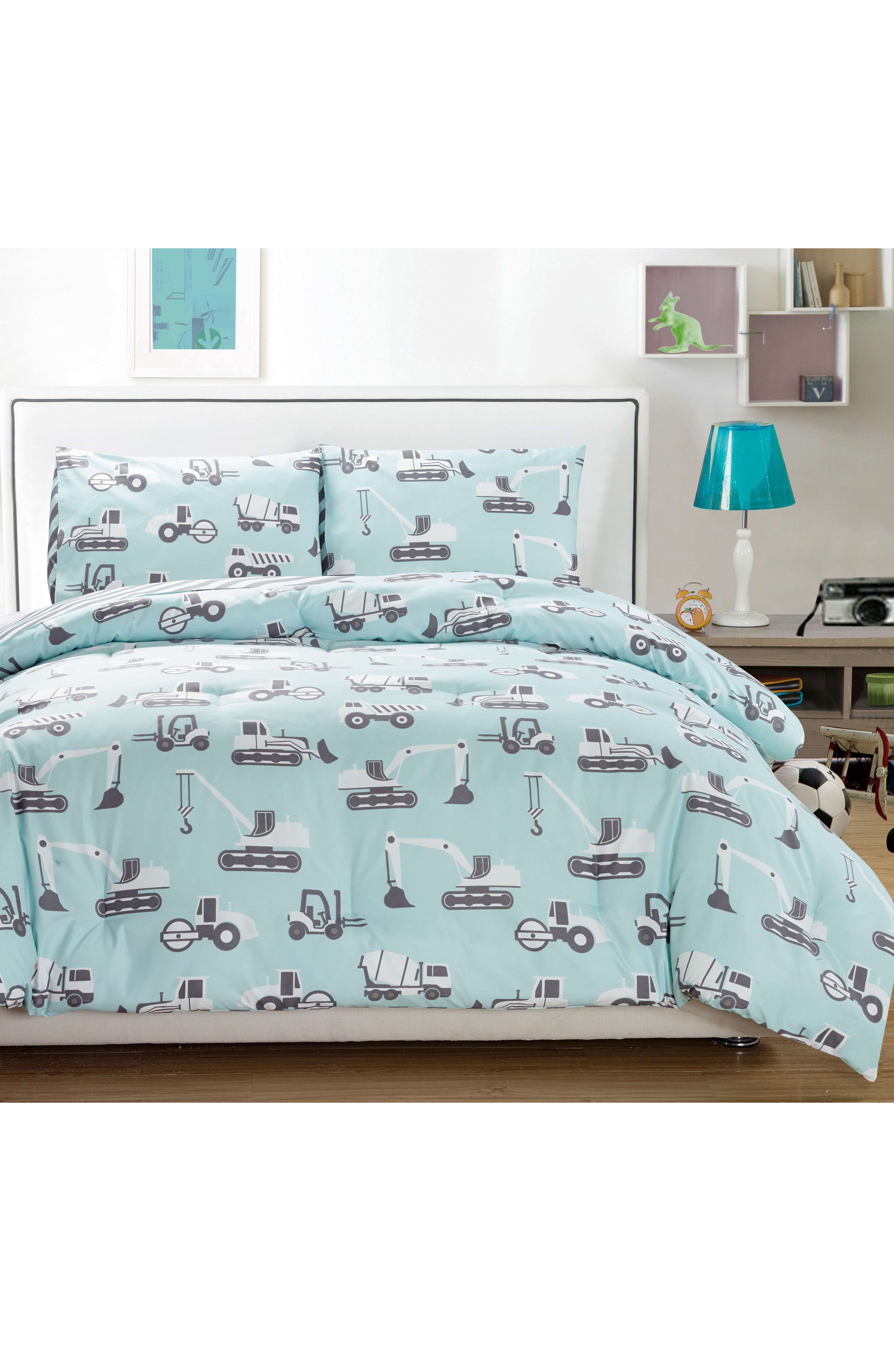 Tommy Comforter & Sham Set,                         Main,                         color, PALE BLUE