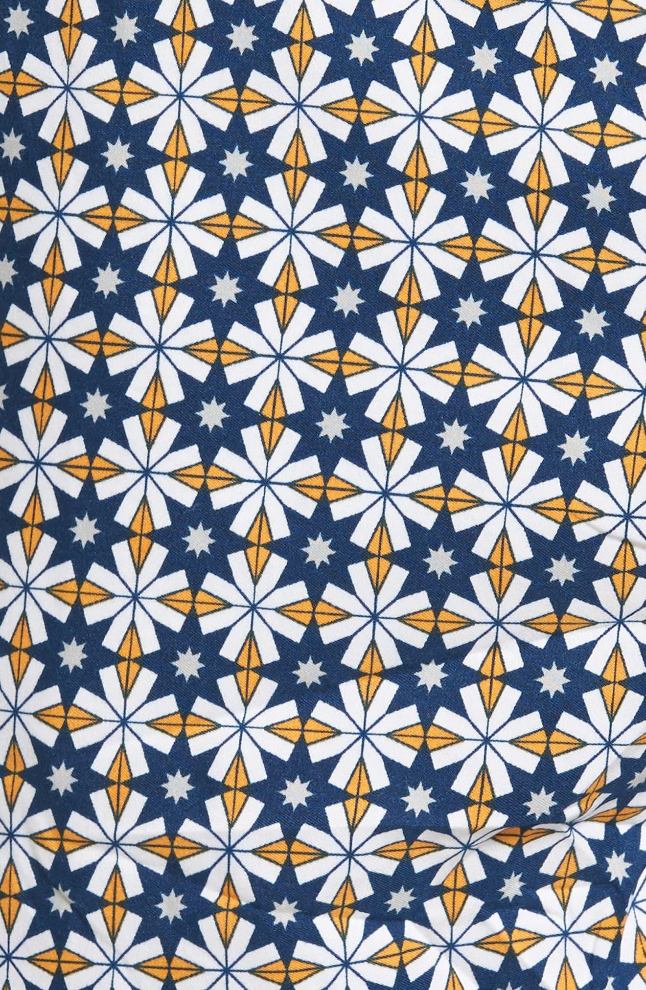 Star Tile Print Board Shorts,                             Alternate thumbnail 5, color,                             440