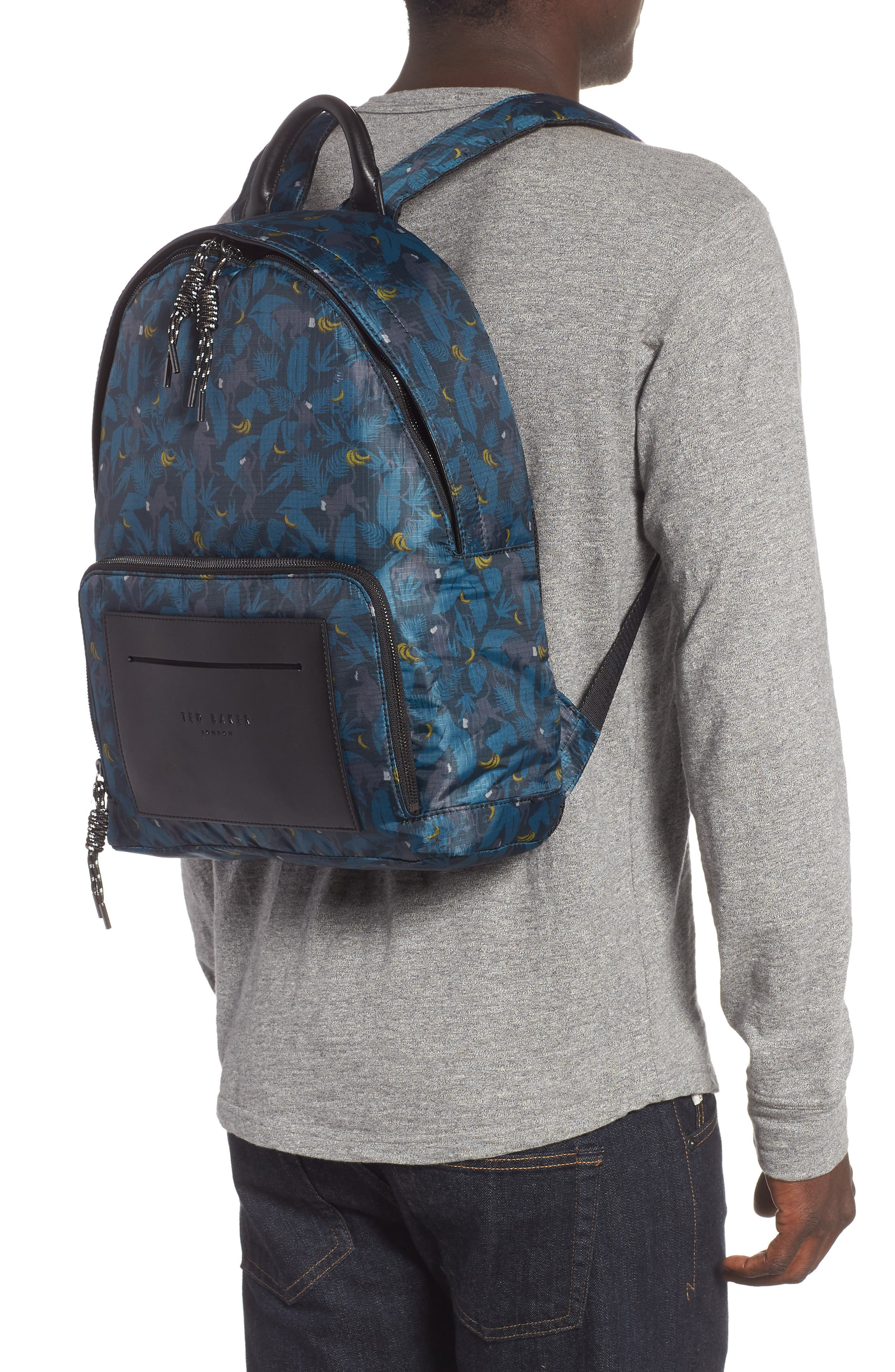 Primate Print Backpack,                             Alternate thumbnail 2, color,                             NAVY